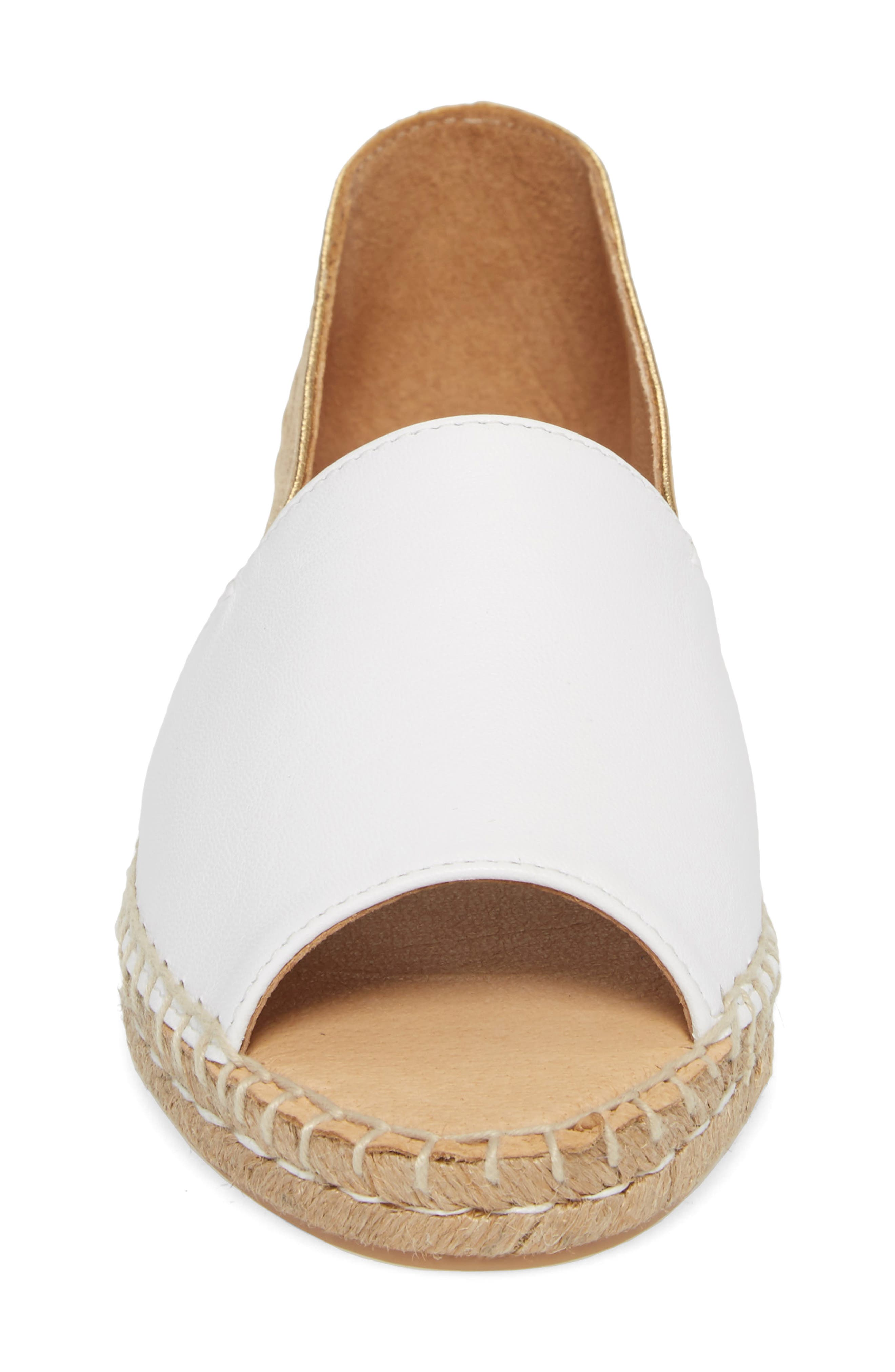 Milly Espadrille,                             Alternate thumbnail 4, color,                             Gold Leather