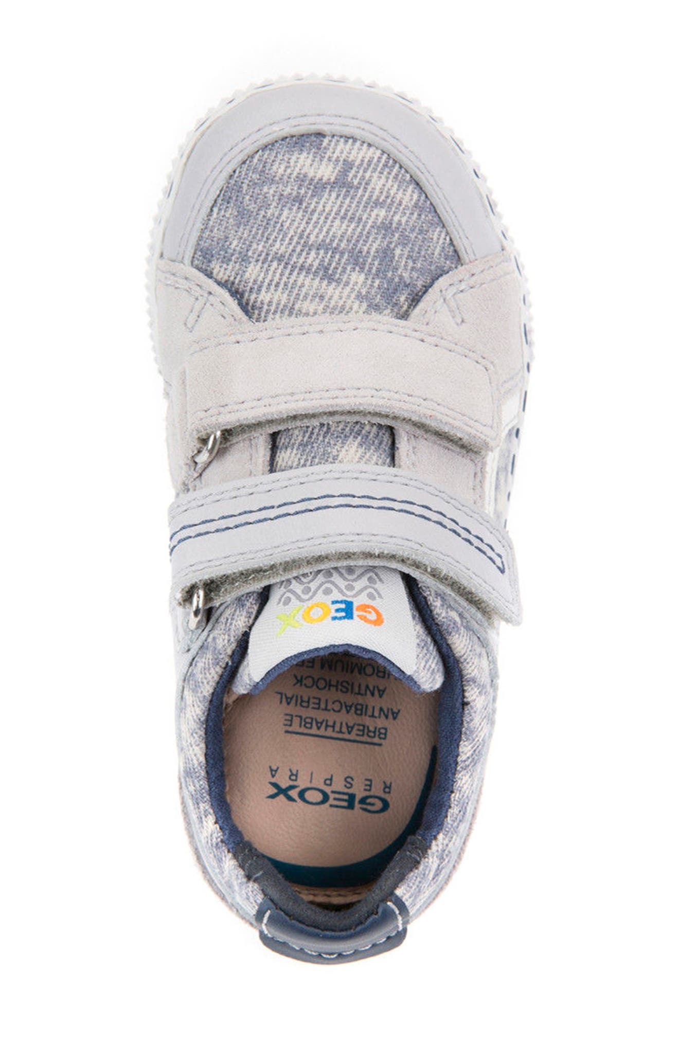 Kilwi Knit Sneaker,                             Alternate thumbnail 5, color,                             Light Grey/ White