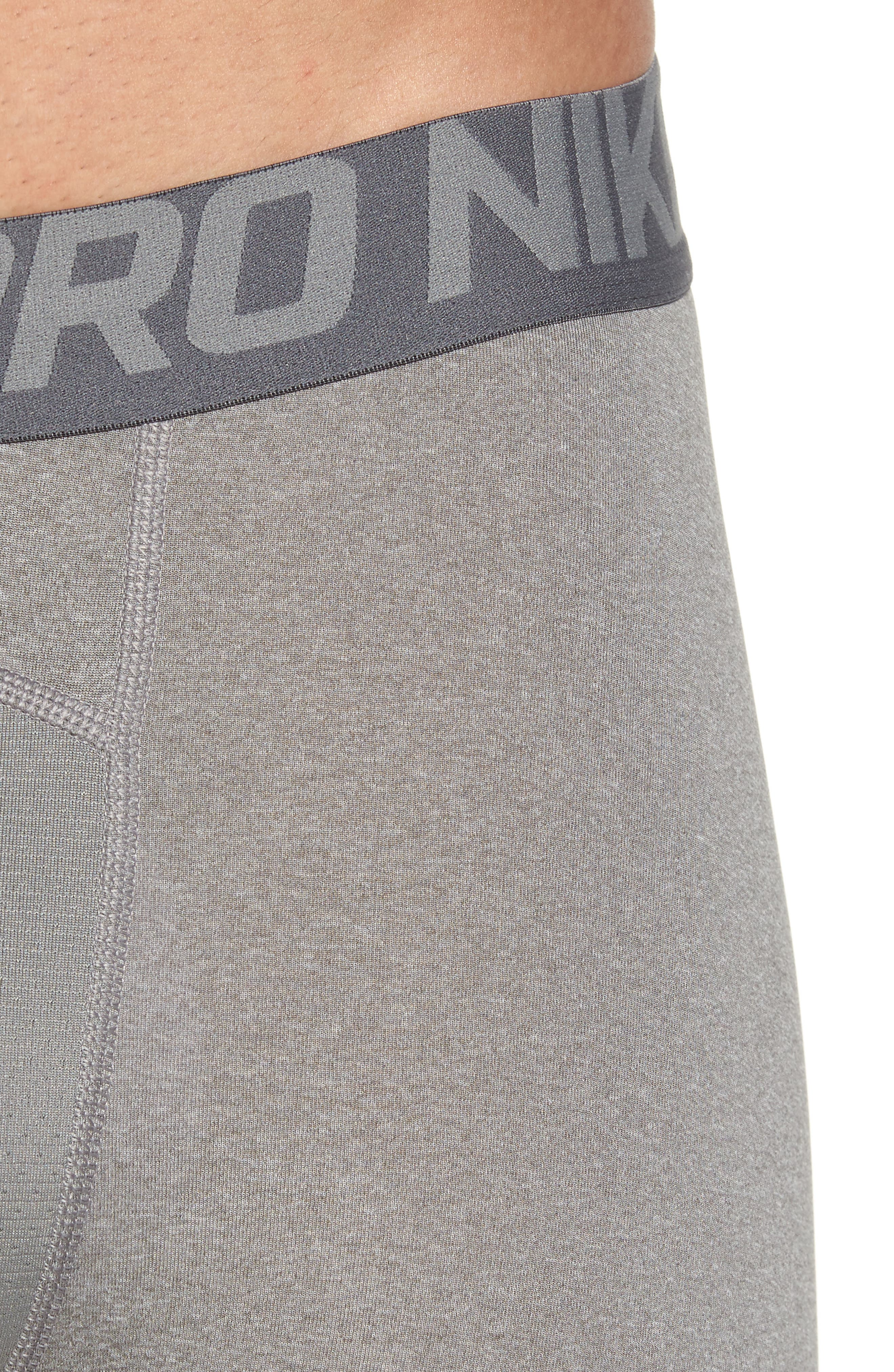 Pro Training Tights,                             Alternate thumbnail 4, color,                             Carbon Heather/Dark Grey/Black