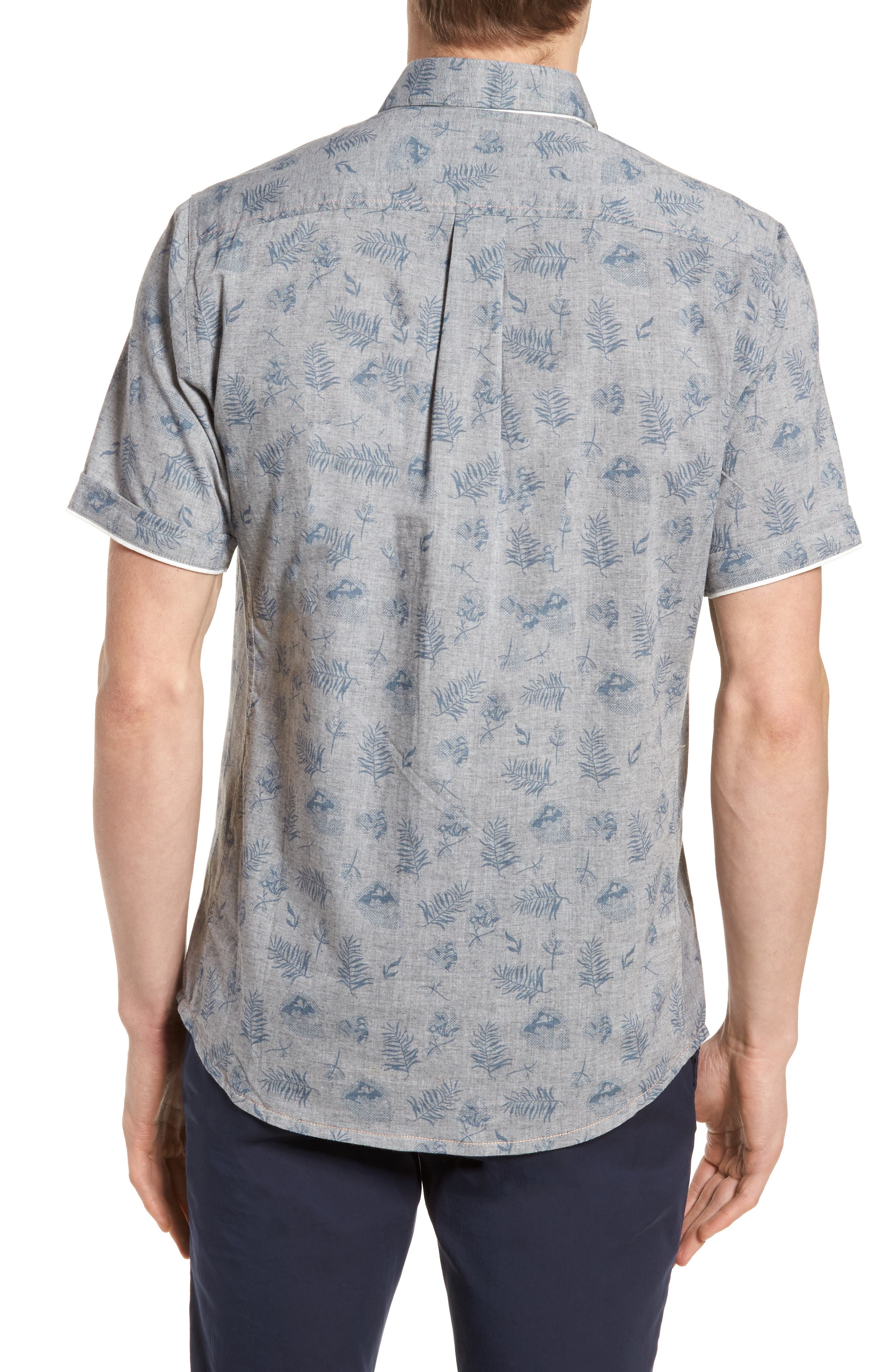 Rock Steady Woven Shirt,                             Alternate thumbnail 3, color,                             Grey