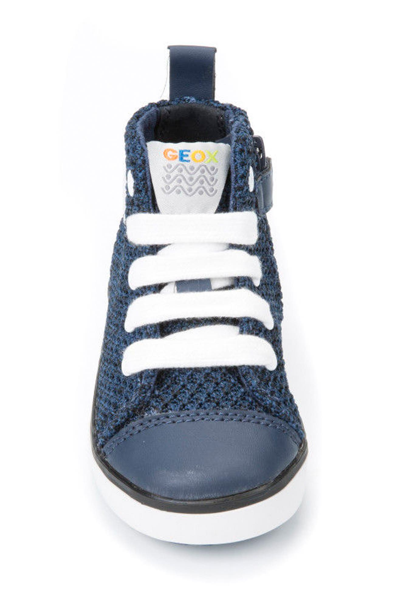 Kilwi Knit High Top Sneaker,                             Alternate thumbnail 4, color,                             Navy