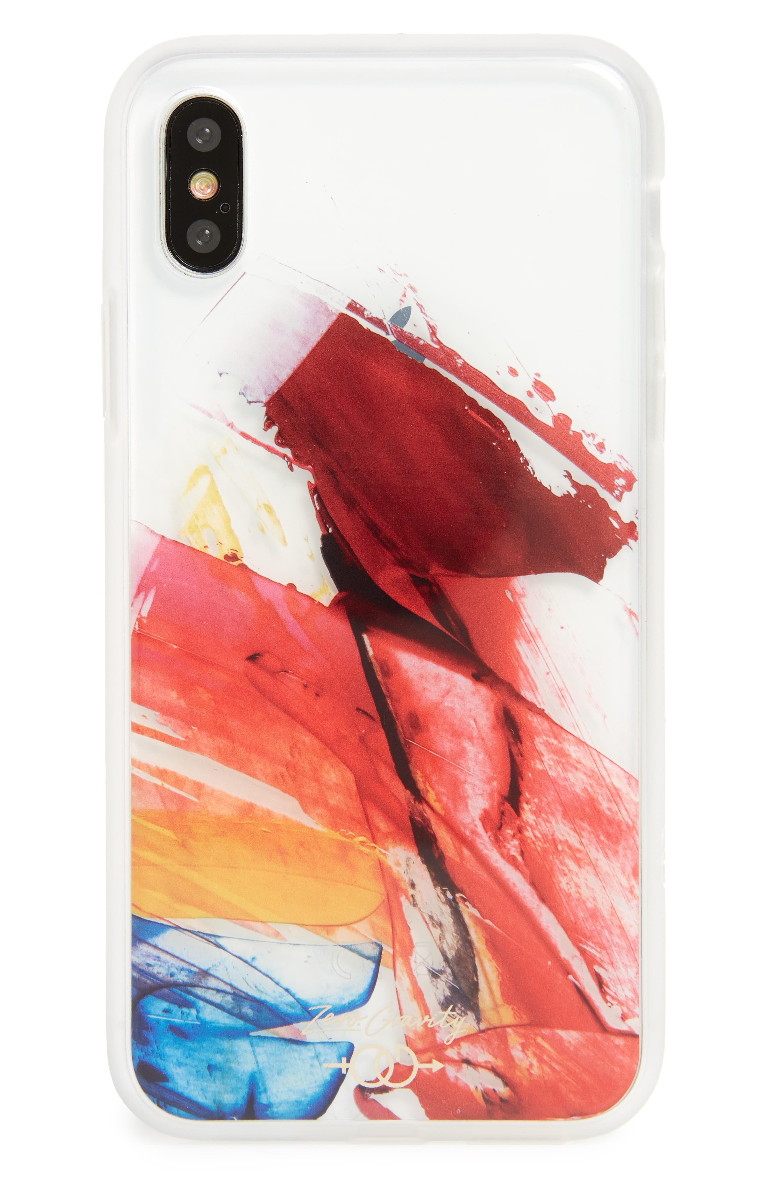 Abstract iPhone X Case,                         Main,                         color, Clear Multi