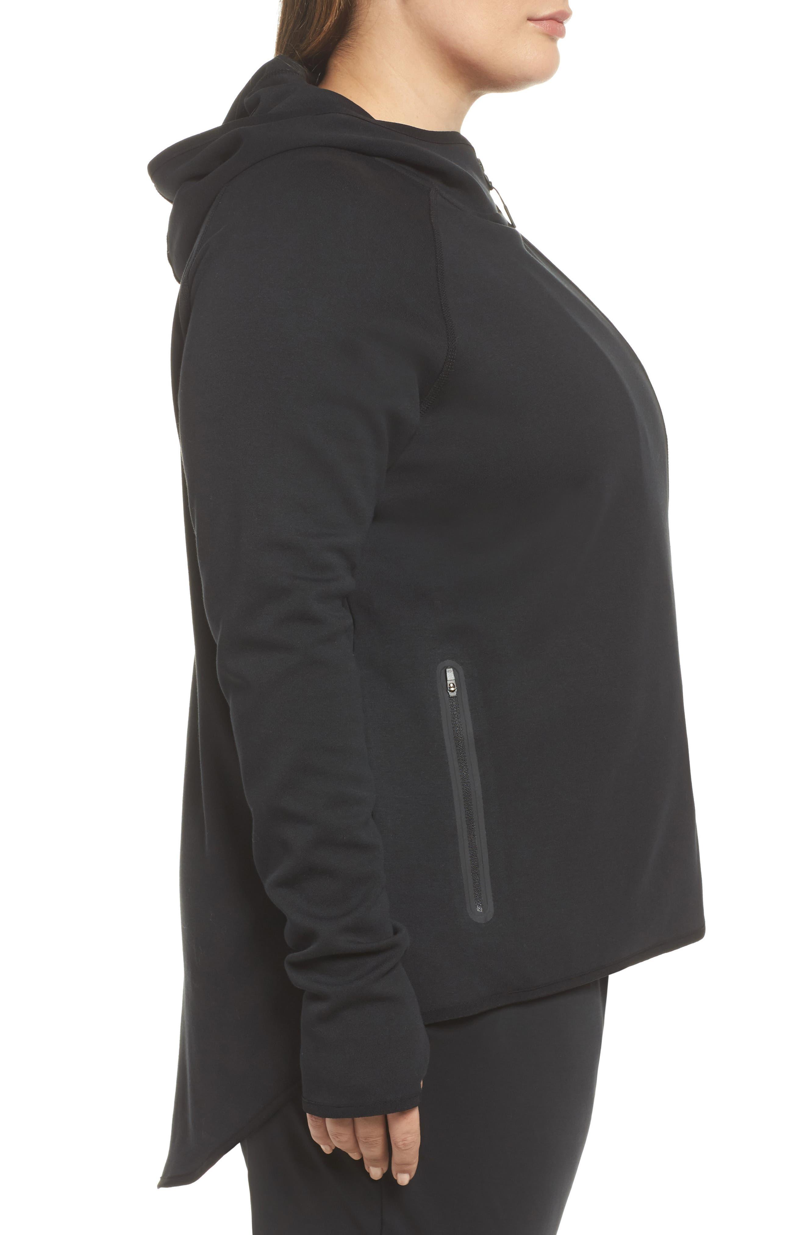 Sportswear Tech Fleece Zip Cape,                             Alternate thumbnail 3, color,                             Black/ Black