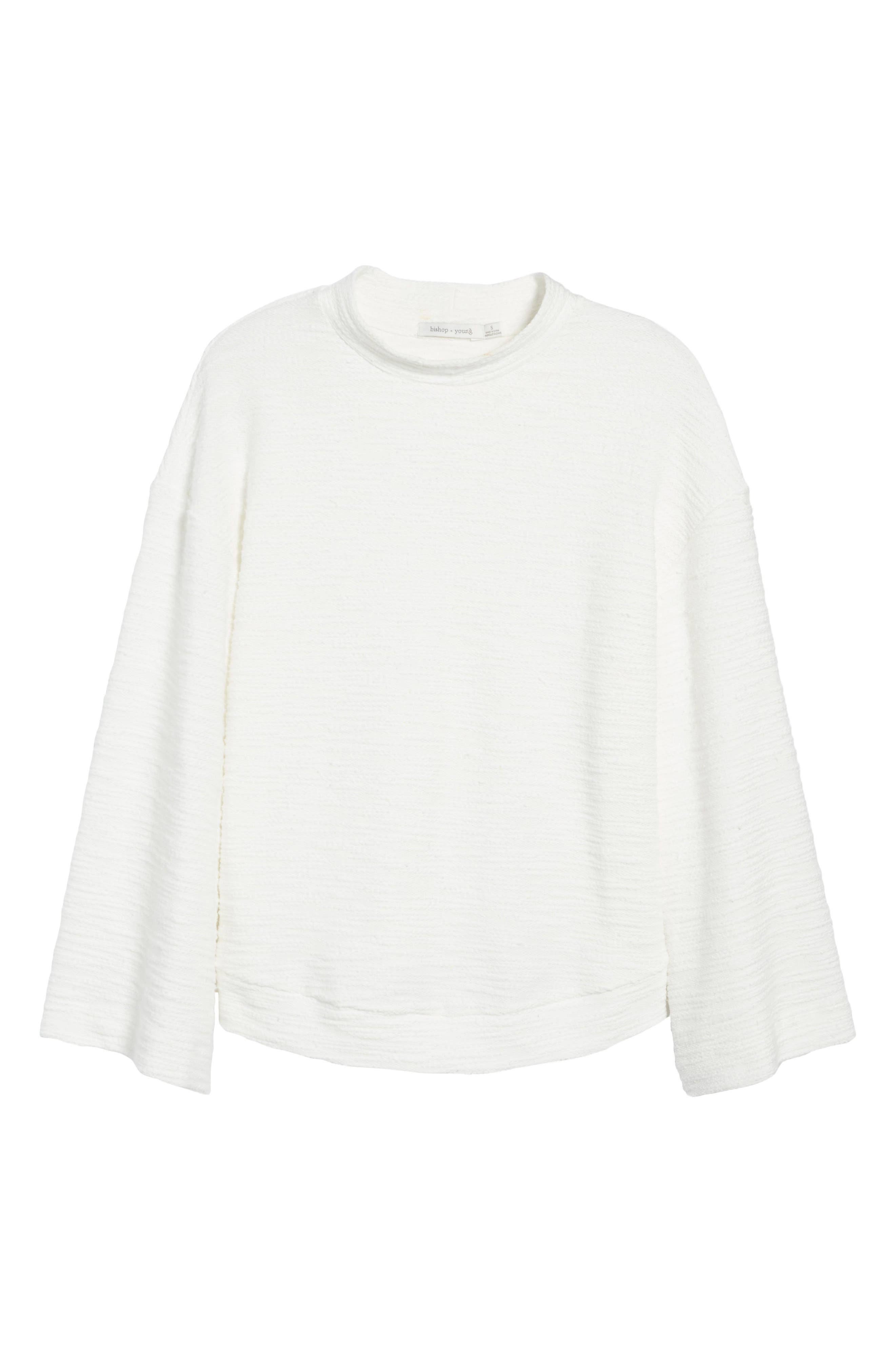 Bishop + Young No Sweat Pullover,                             Alternate thumbnail 6, color,                             Ivory