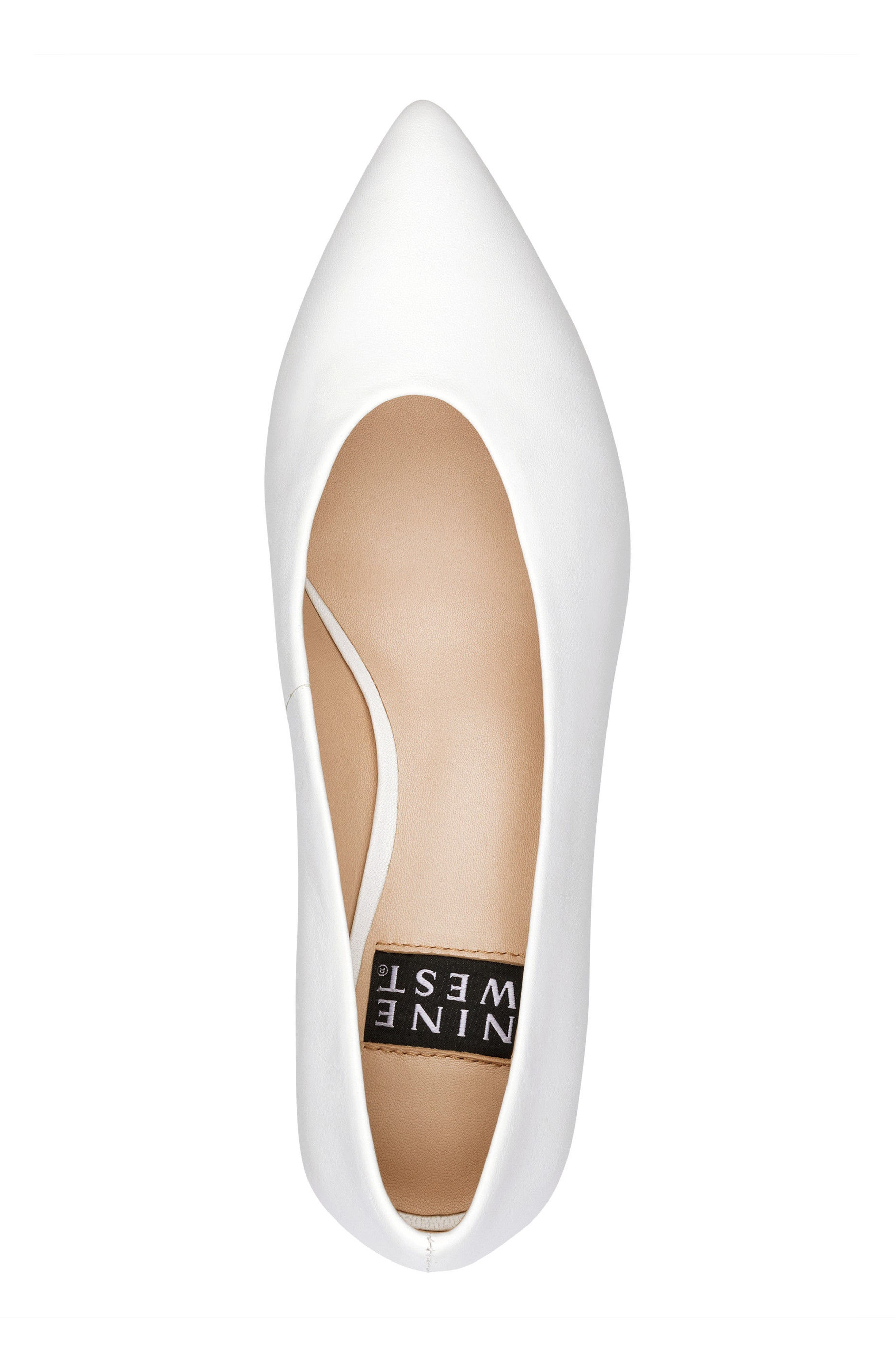 Kendra - 40th Anniversary Capsule Collection Pump,                             Alternate thumbnail 5, color,                             White Leather