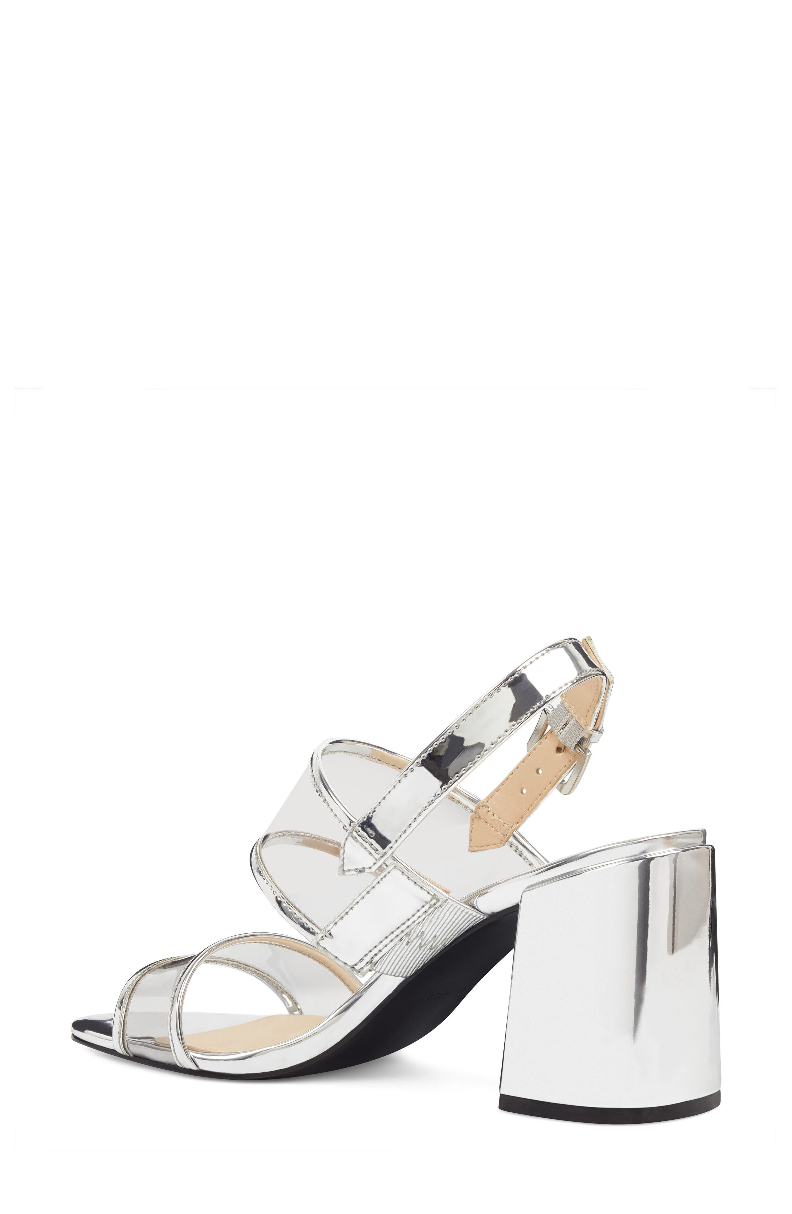 Gourdes Block Heel Sandal,                             Alternate thumbnail 2, color,                             Clear Grey Multi Faux Leather