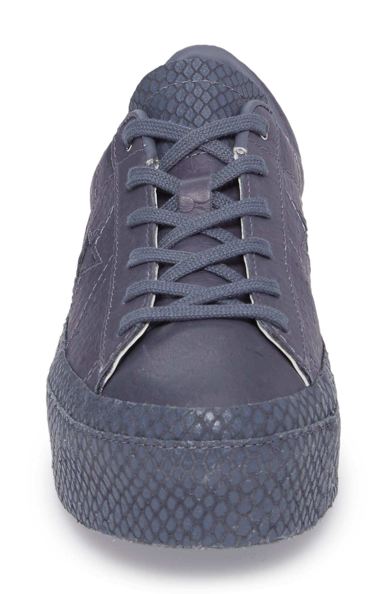 Chuck Taylor<sup>®</sup> All Star<sup>®</sup> One Star Platform Sneaker,                             Alternate thumbnail 4, color,                             Light Carbon