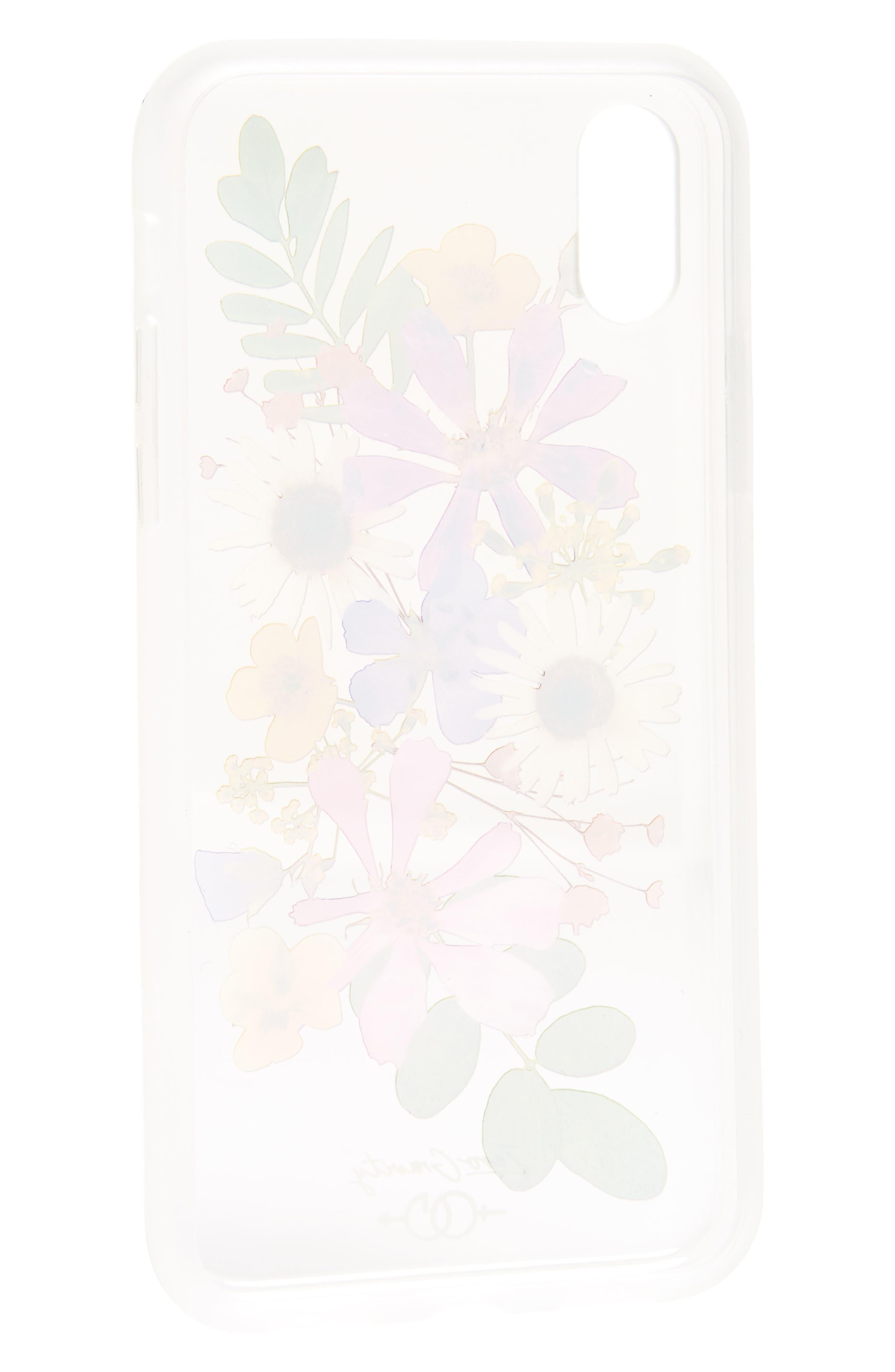 Petal iPhone X Case,                             Alternate thumbnail 2, color,                             Clear Multi