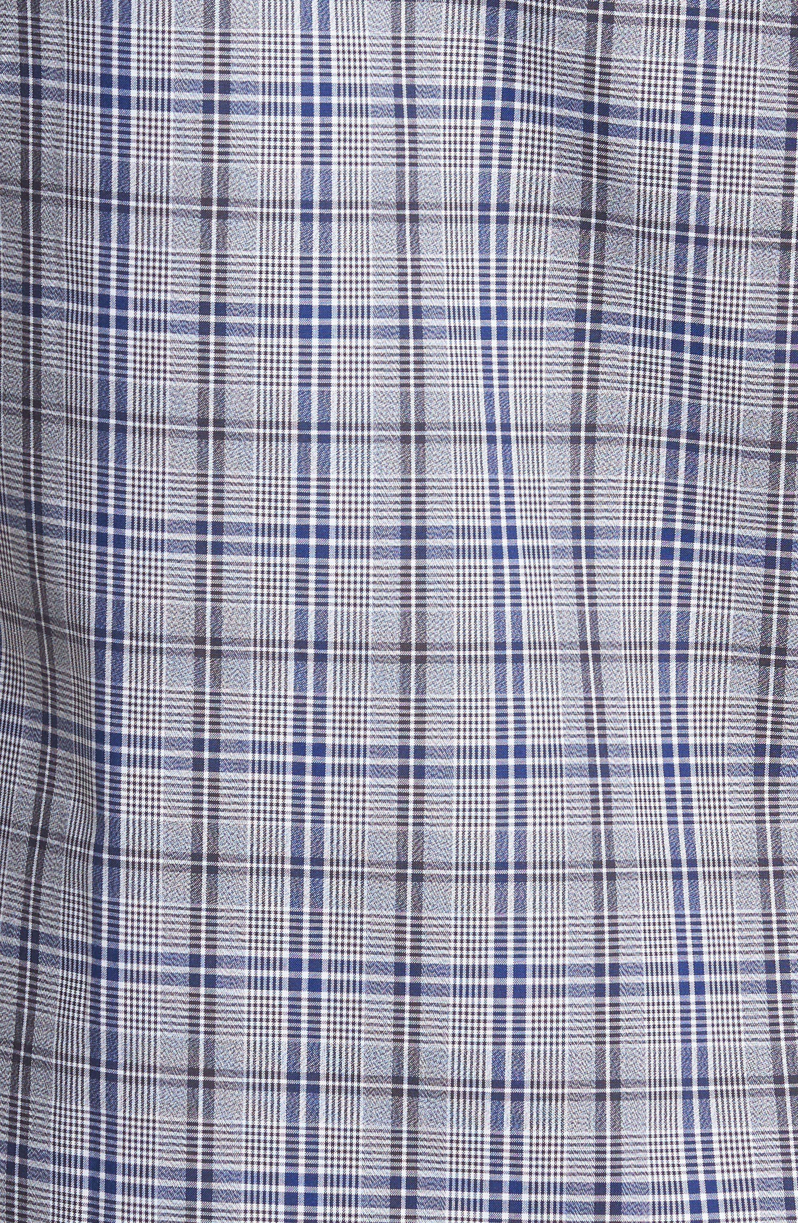 Alternate Image 5  - Nordstrom Men's Shop Trim Fit Non-Iron Check Sport Shirt