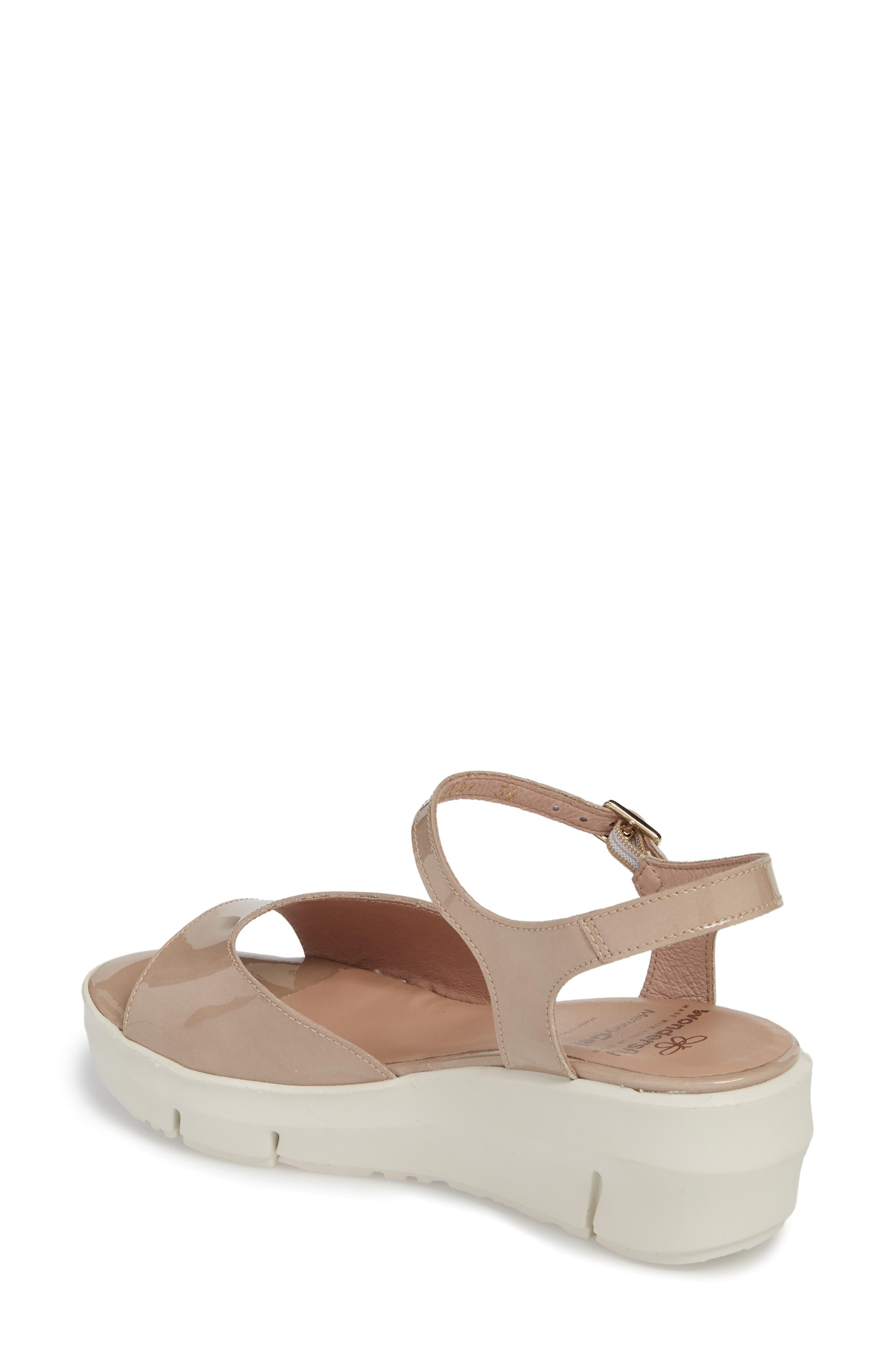 D-8201 Platform Sandal,                             Alternate thumbnail 2, color,                             Taupe Leather