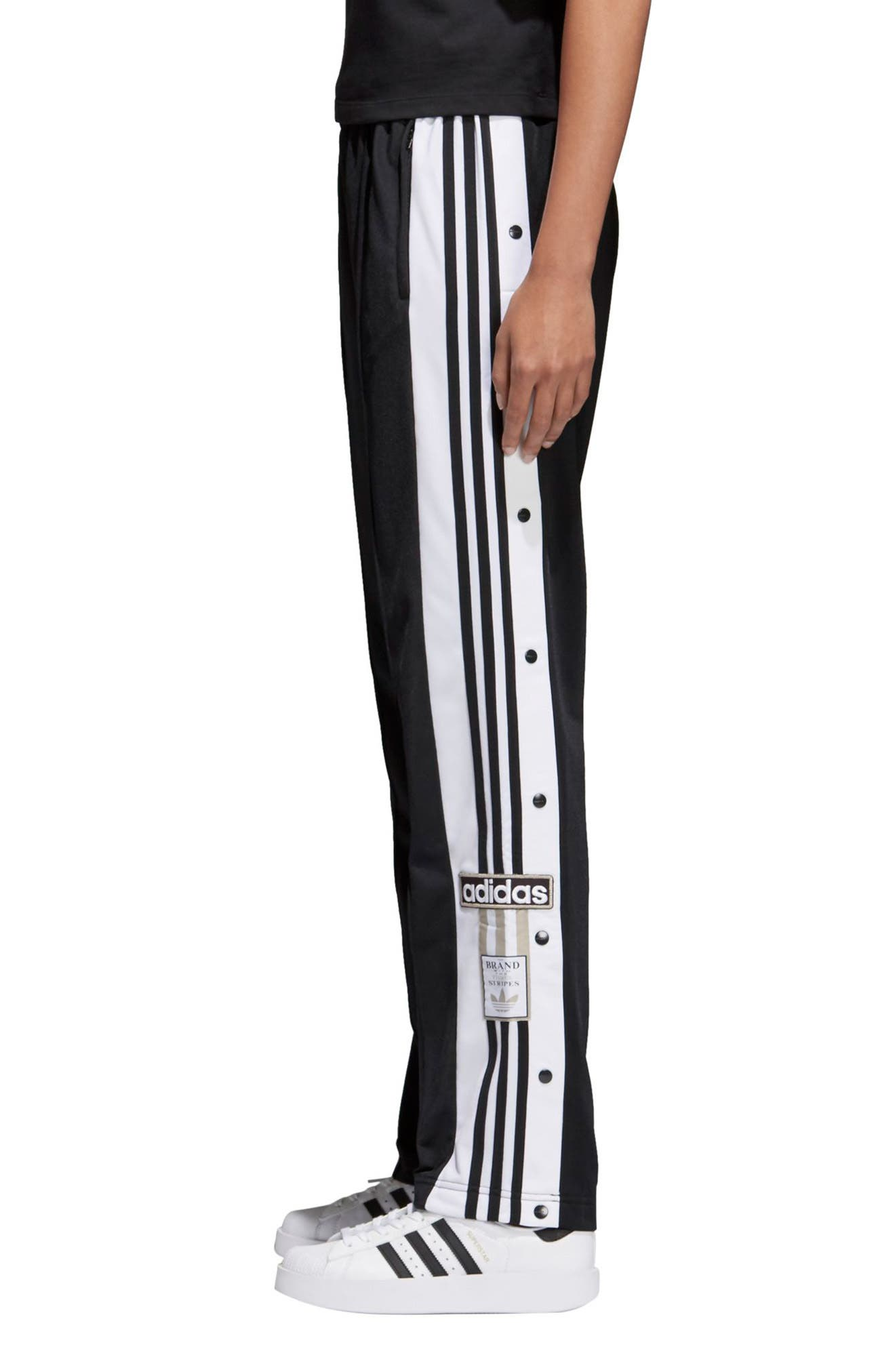 Originals Adibreak Tearaway Track Pants,                             Alternate thumbnail 3, color,                             Black/ Carbon