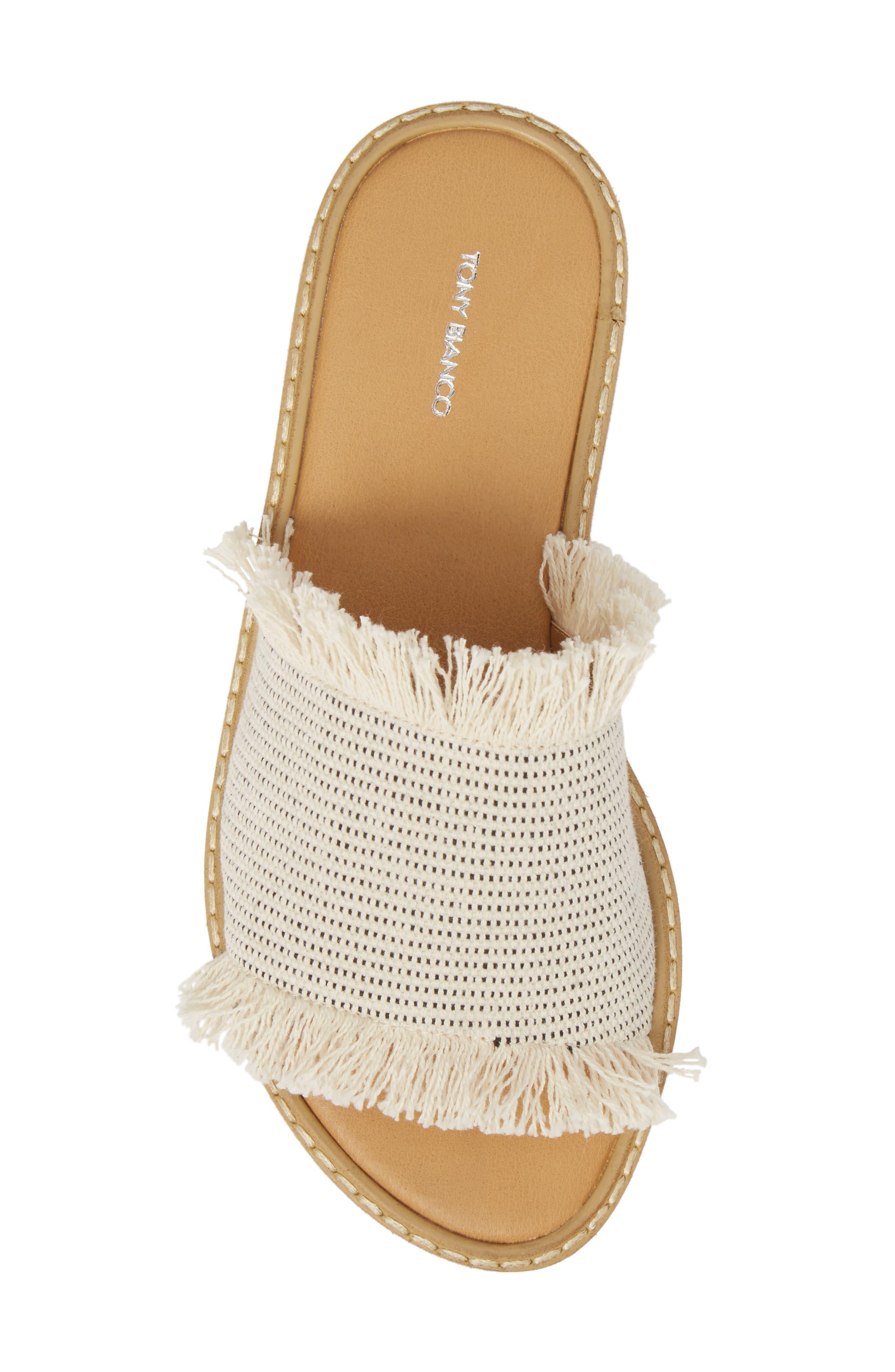 Ebony Platform Sandal,                             Alternate thumbnail 5, color,                             White/ Black Osaka Fabric
