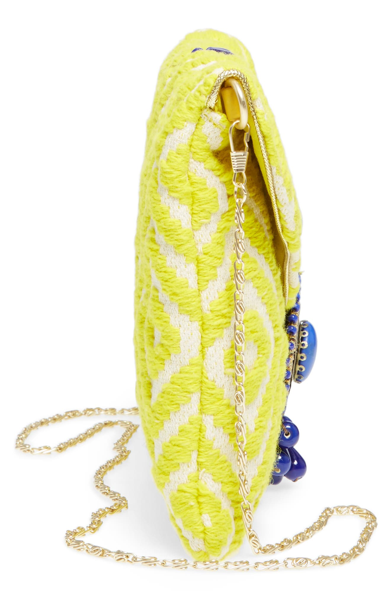 Alternate Image 5  - Steven by Steve Madden Beaded & Embroidered Clutch