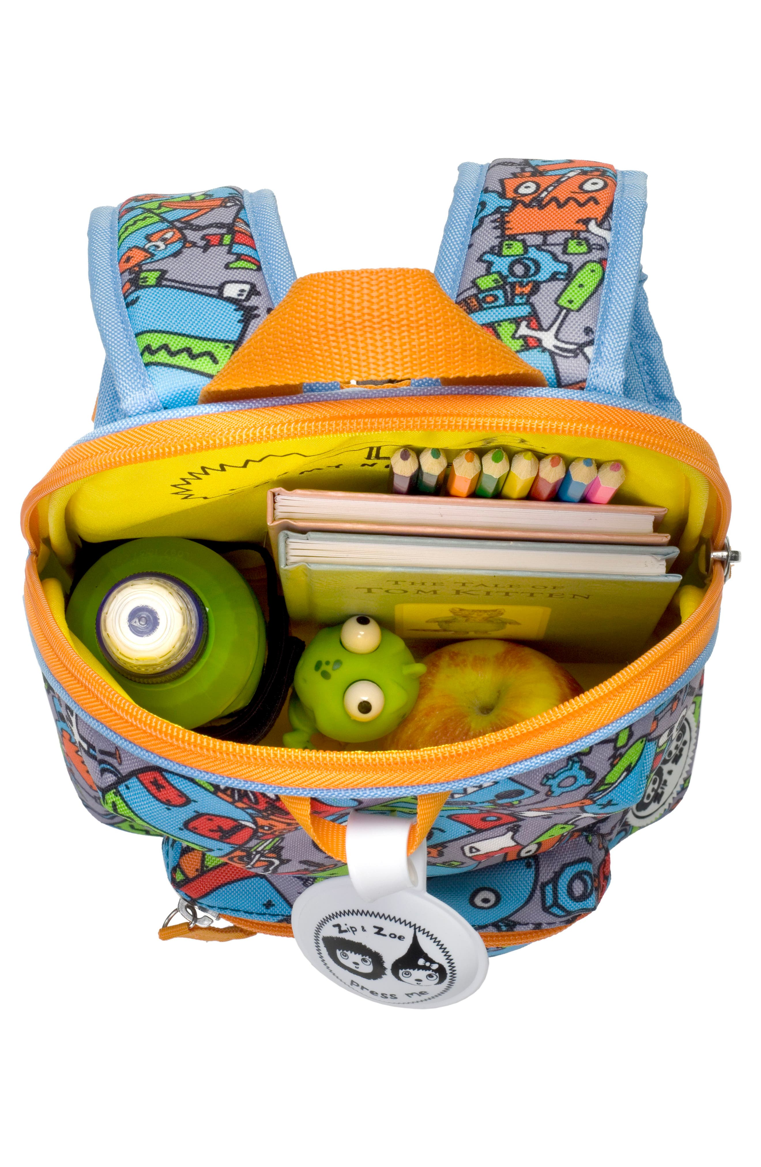 Alternate Image 2  - Babymel Zip & Zoe Robots Mini Backpack (Kids)