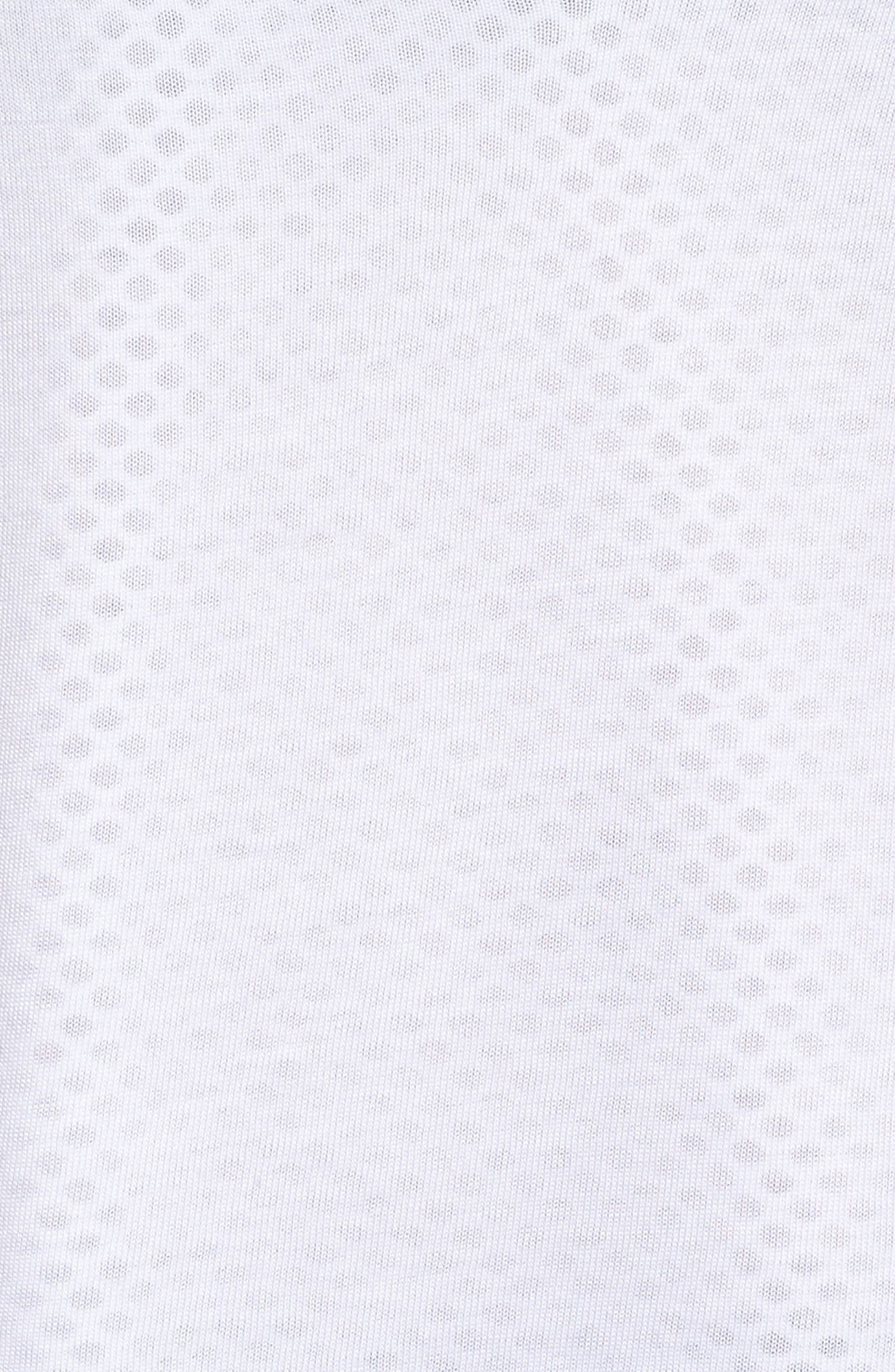 Banele Mesh Top,                             Alternate thumbnail 6, color,                             White