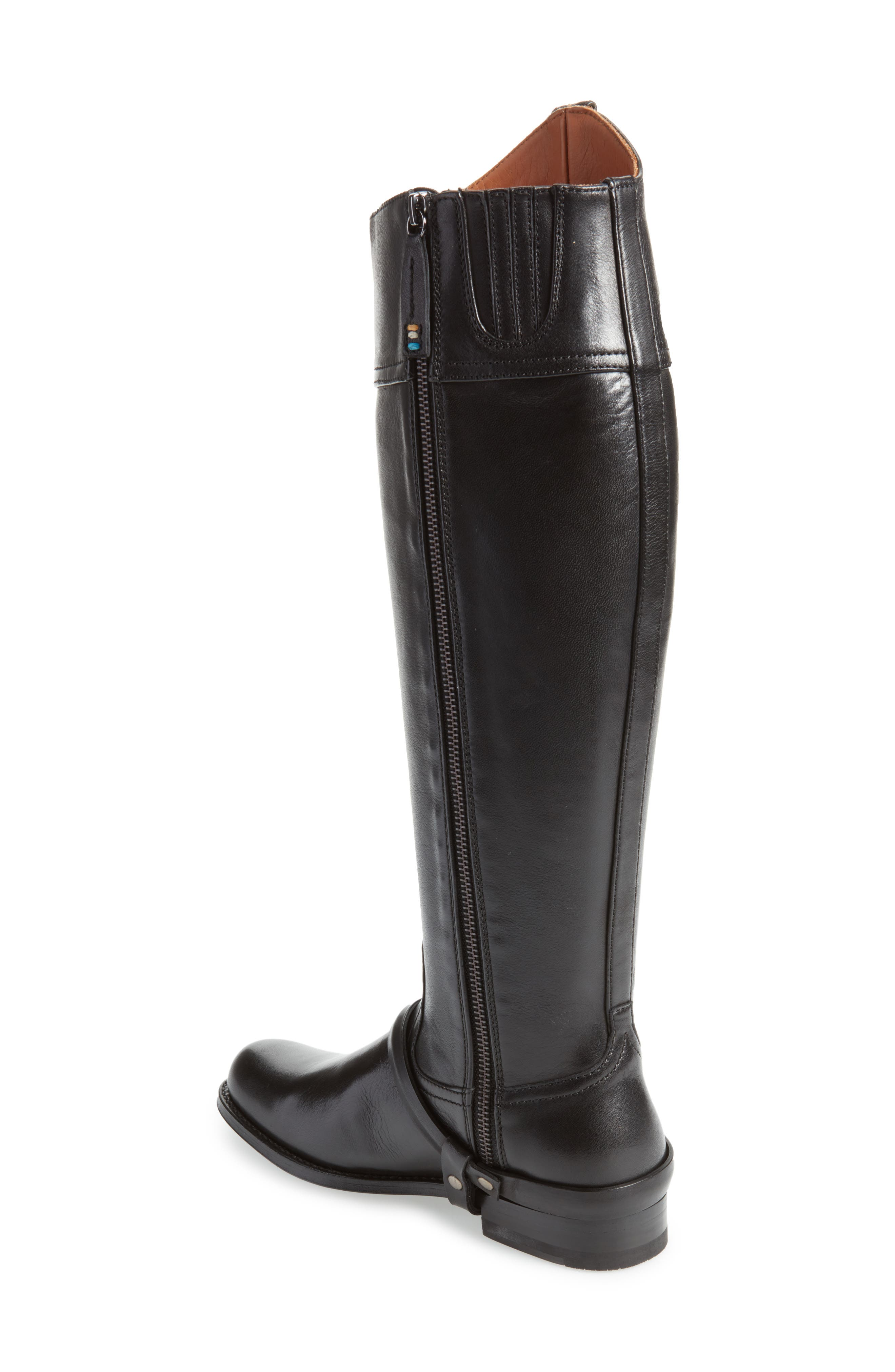 Pamplona Knee High Boot,                             Alternate thumbnail 2, color,                             Black Leather