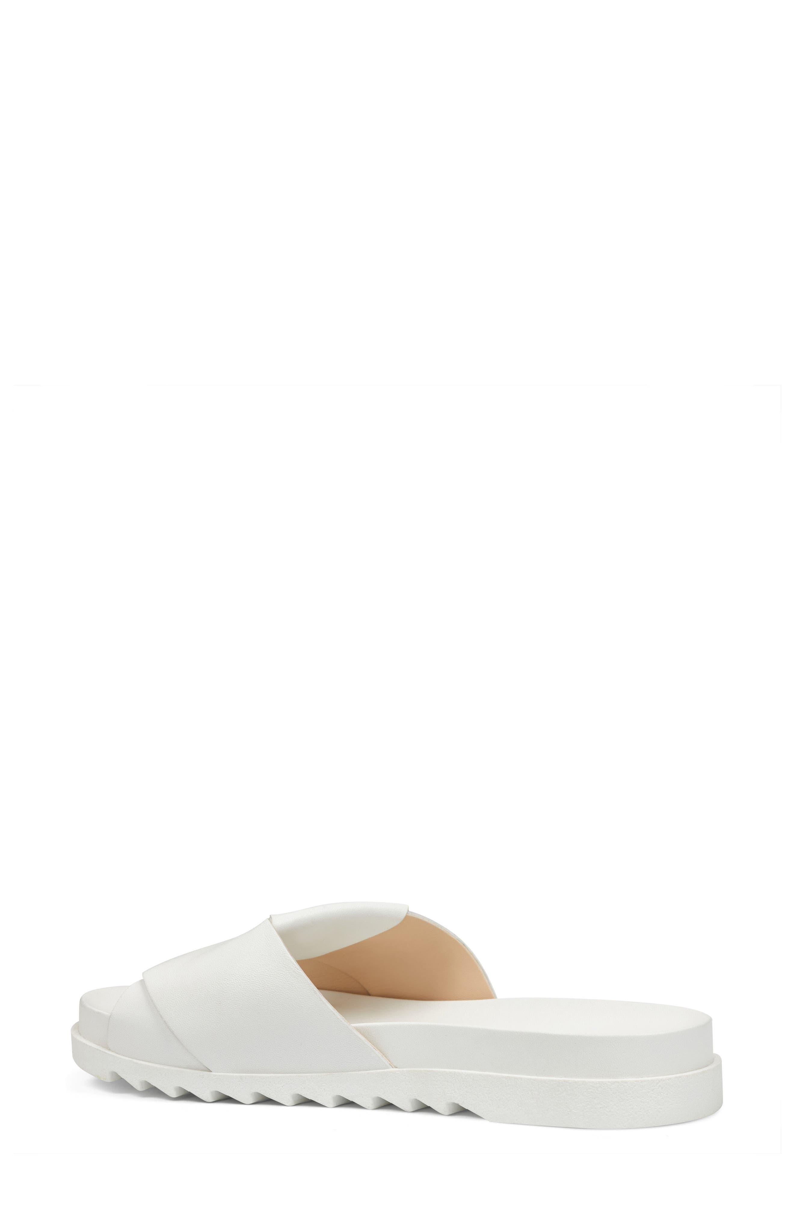 Furaish Slide Sandal,                             Alternate thumbnail 2, color,                             White Leather