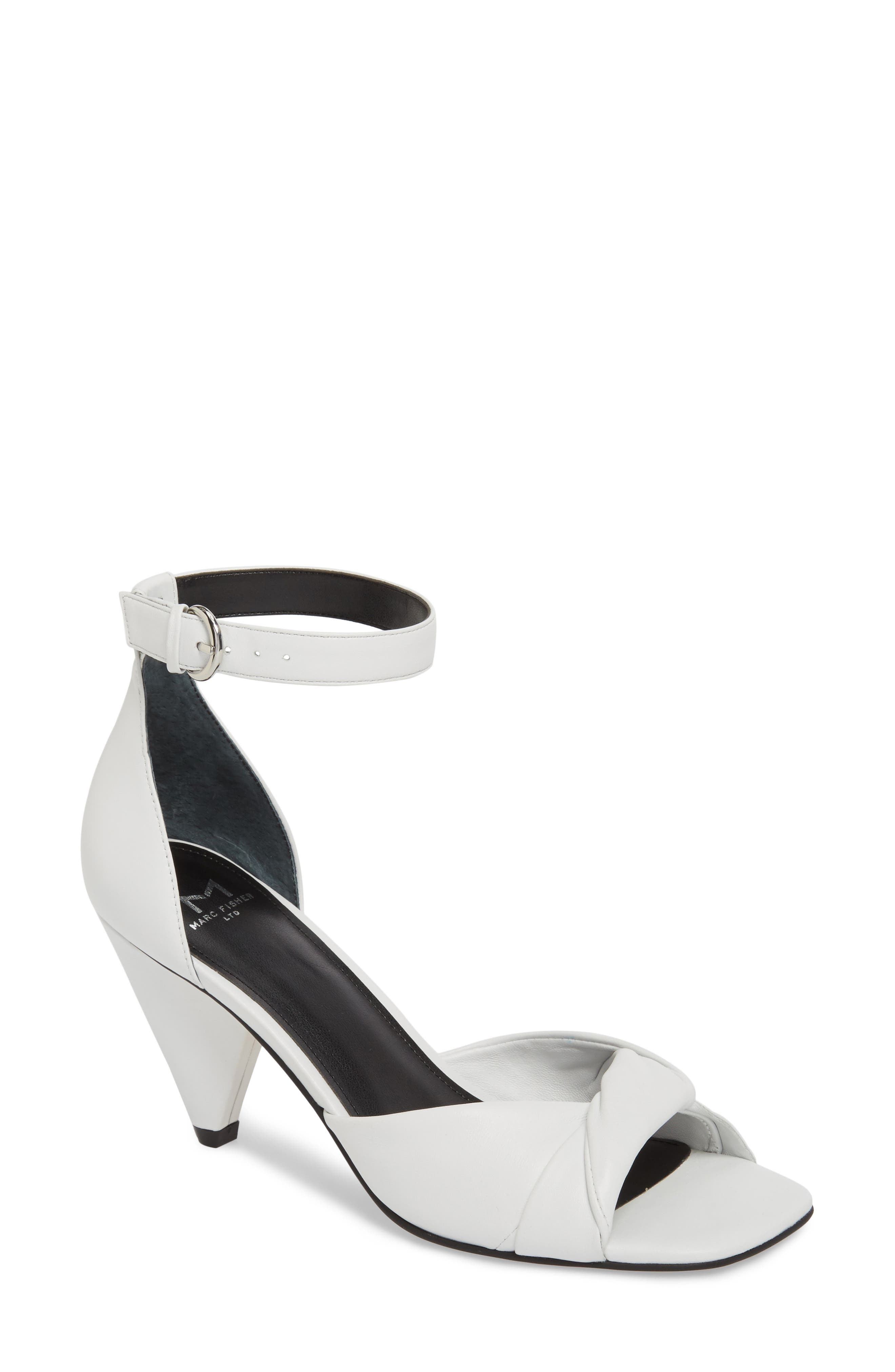 Ivory Sandal,                         Main,                         color, White Leather