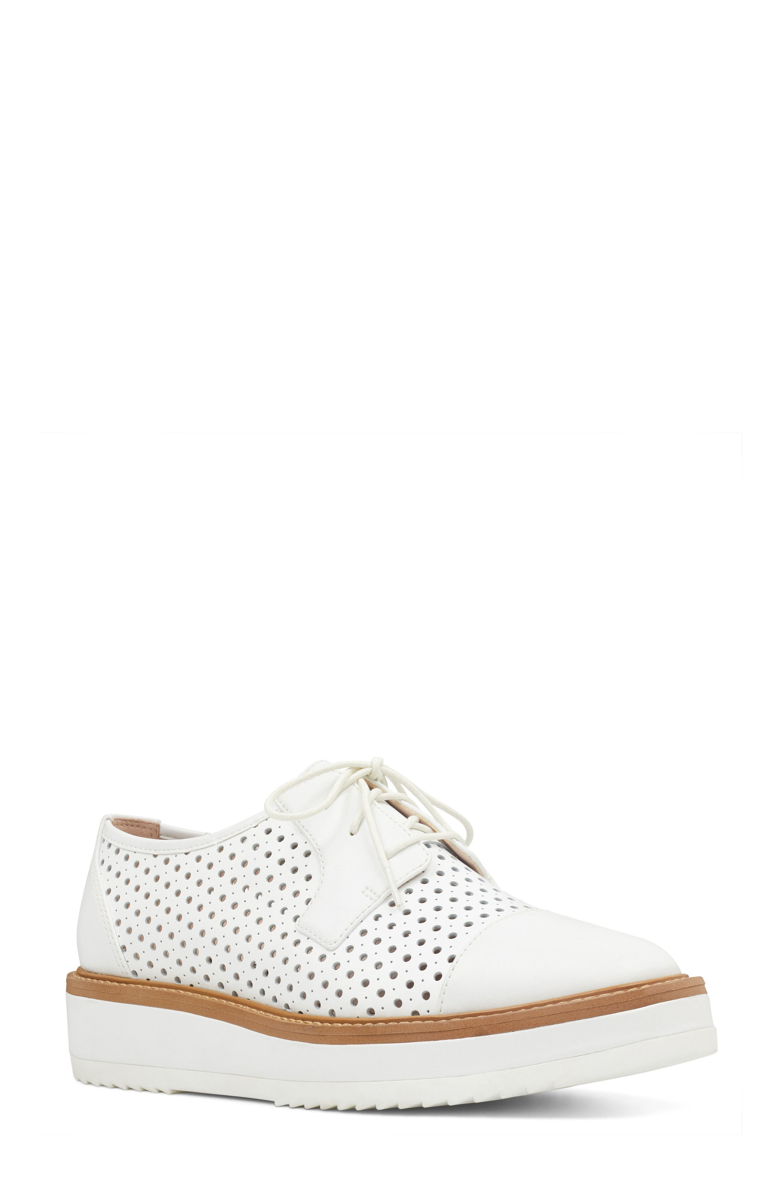 Nine West Verwin Perforated Cap Toe Derby (Women)