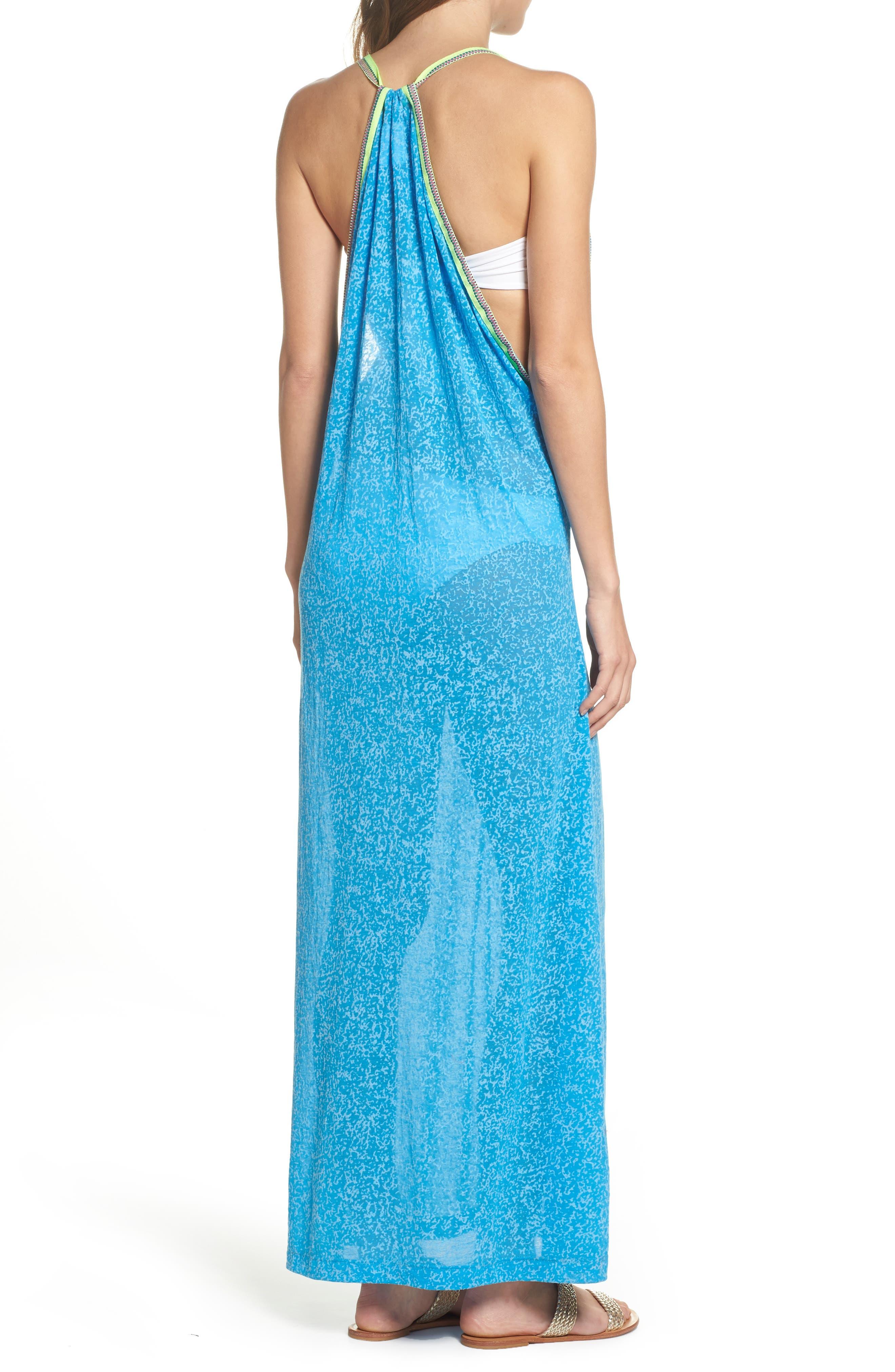 Inca Cover-Up Maxi Sundress,                             Alternate thumbnail 2, color,                             Blue