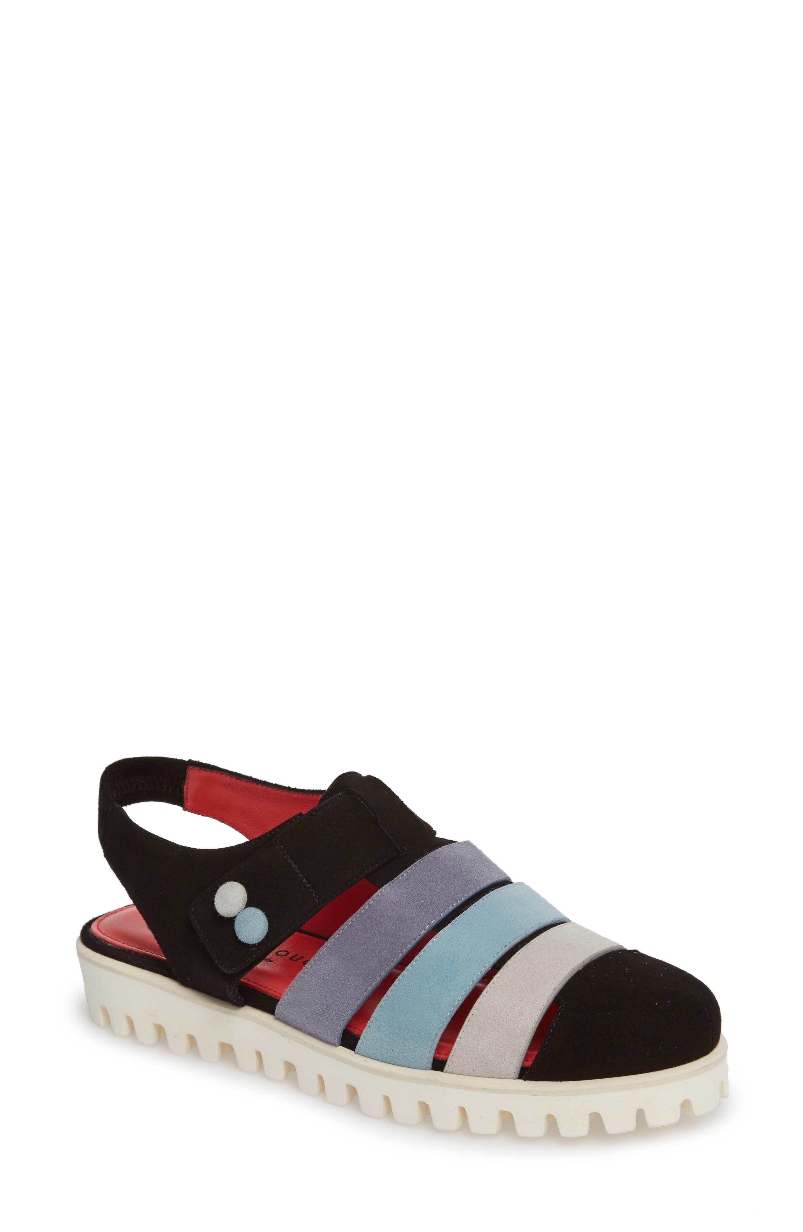 Marta Slingback Sandal,                         Main,                         color, Black Suede