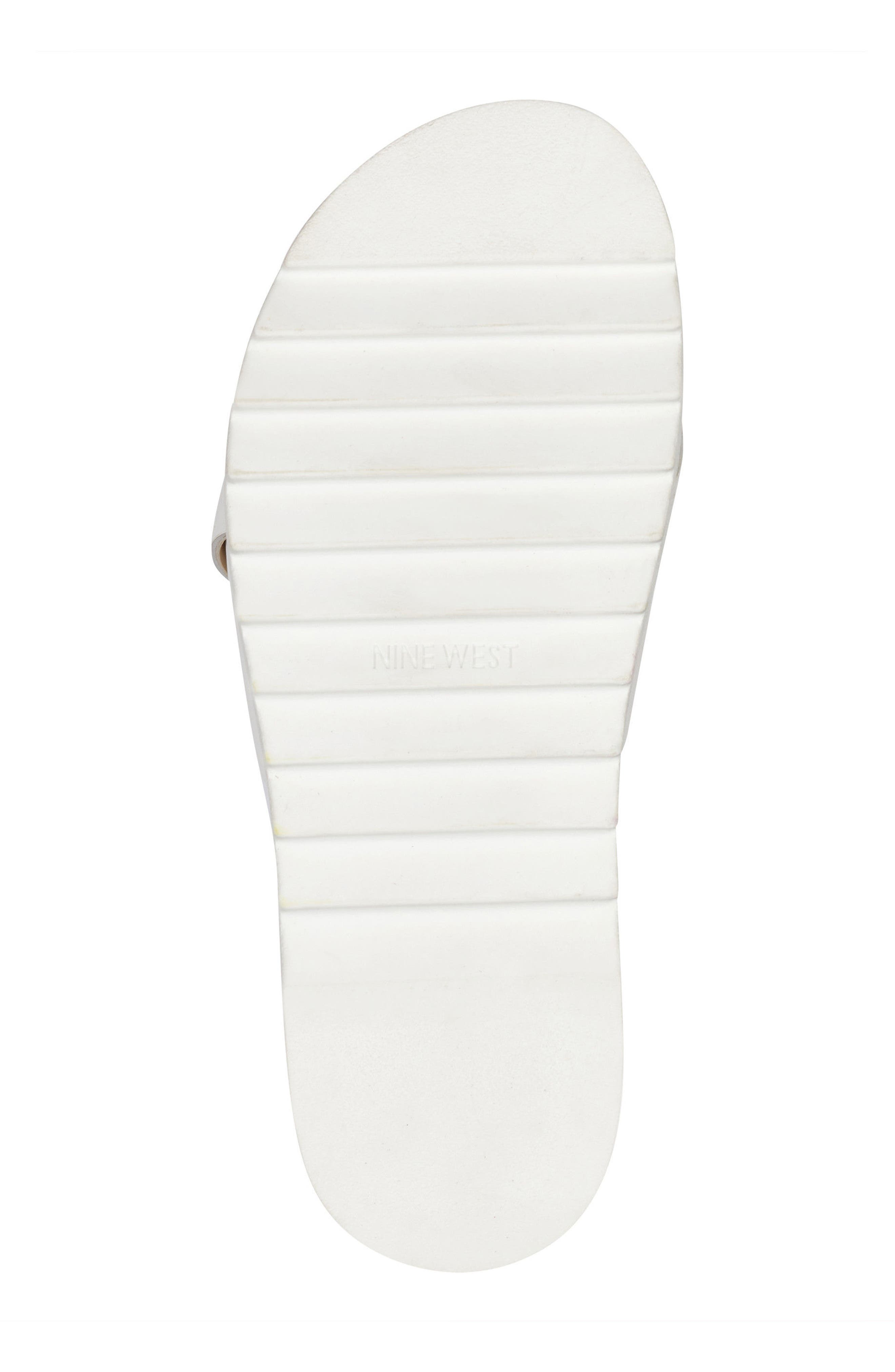 Furaish Slide Sandal,                             Alternate thumbnail 6, color,                             White Leather