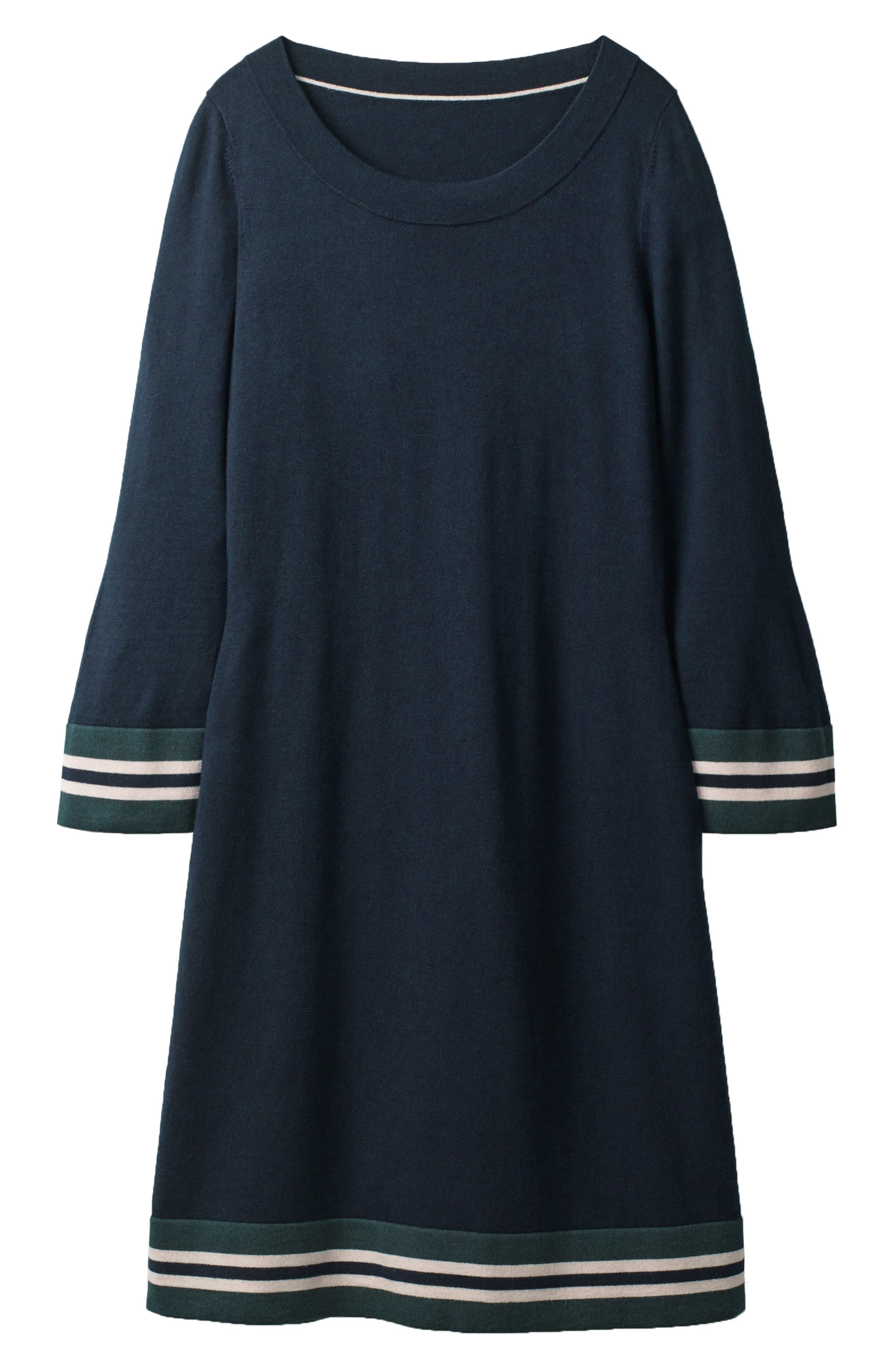 Border Stripe Shift Dress,                         Main,                         color, Navy