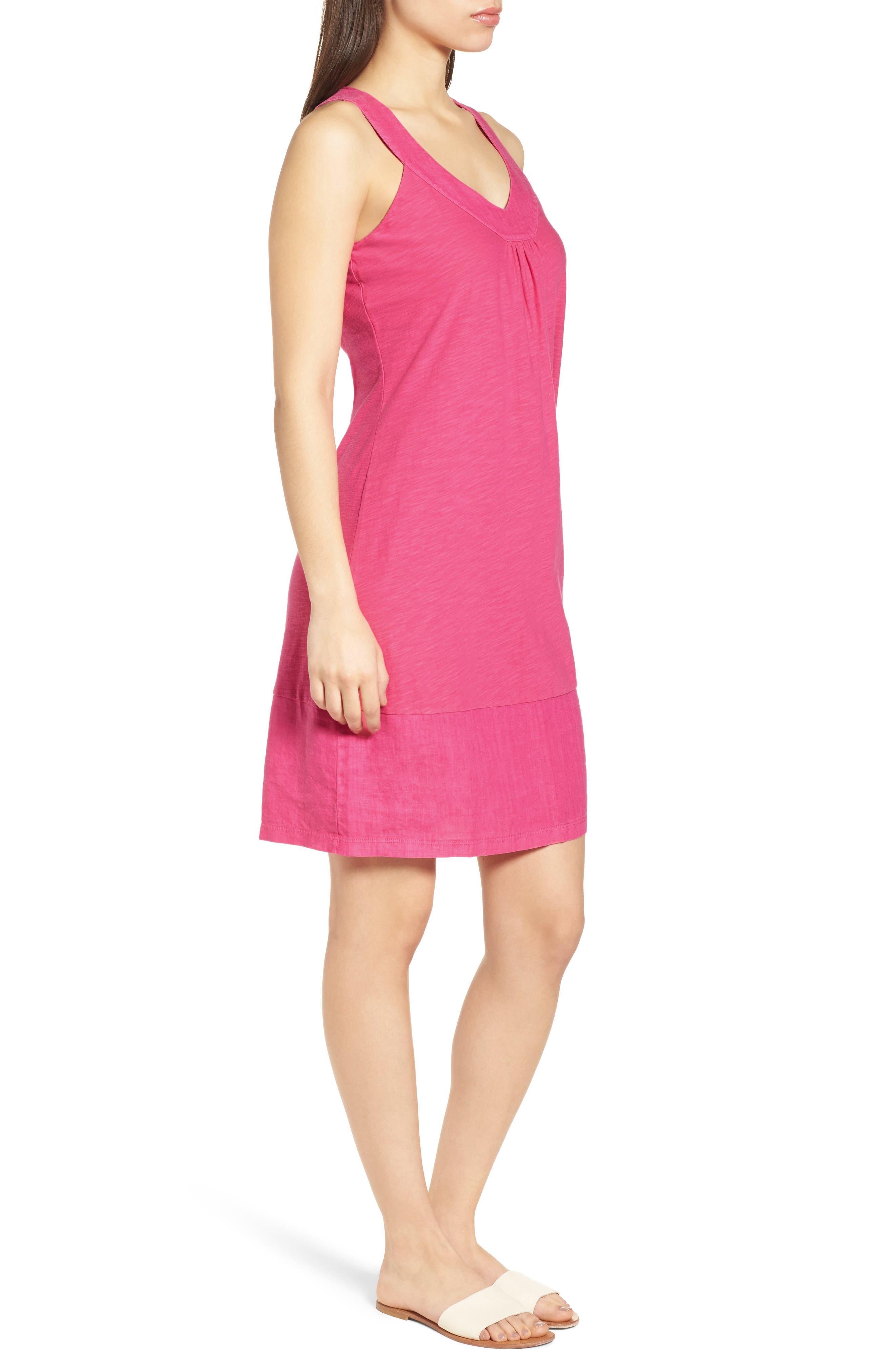 Arden Shift Dress,                             Alternate thumbnail 3, color,                             Bright Blush