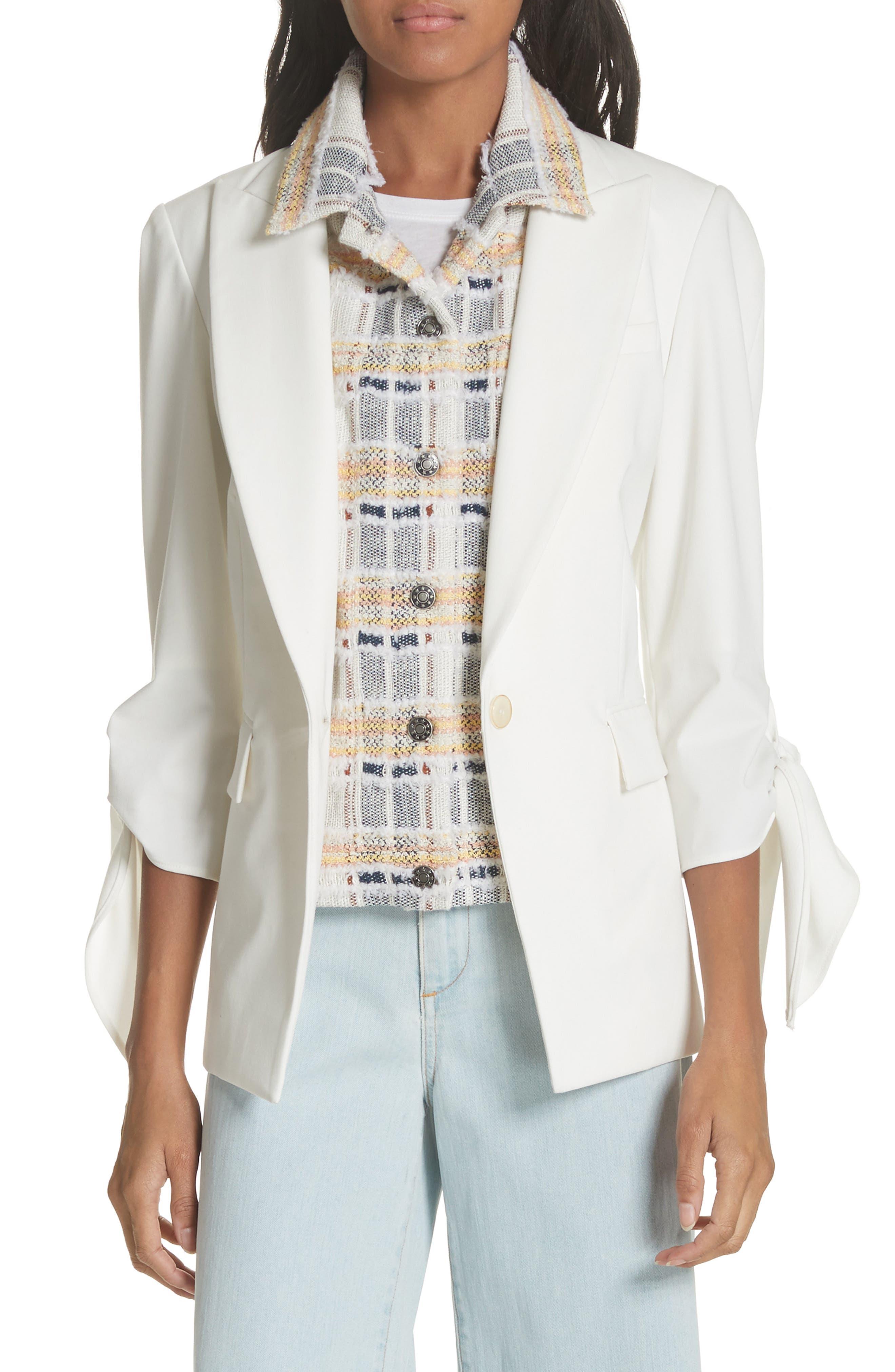 Corrine Dickey Jacket,                             Main thumbnail 1, color,                             White