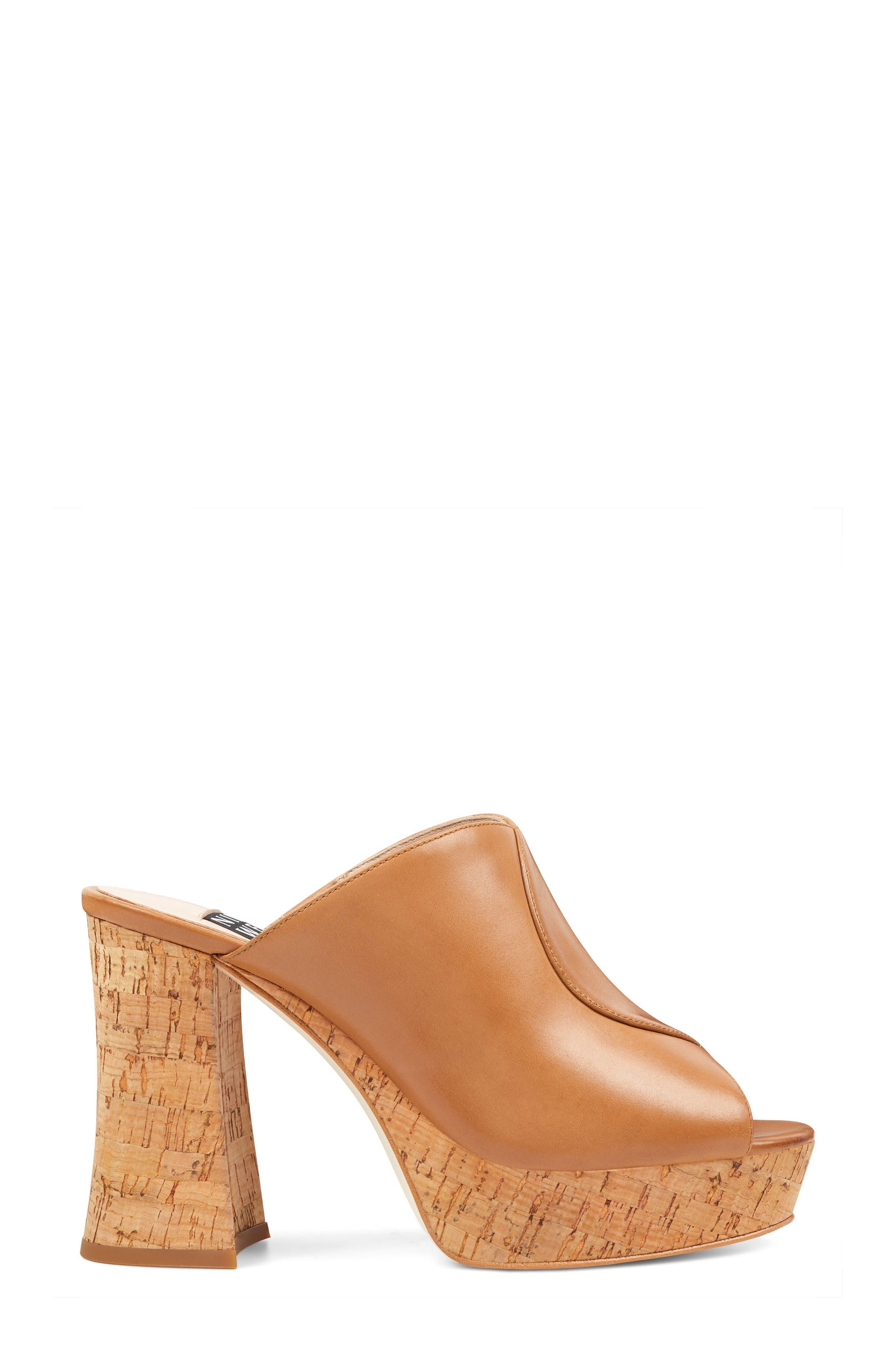 Lisana - 40th Anniversary Capsule Collection Platform Slide Sandal,                             Alternate thumbnail 3, color,                             Dark Natural Leather