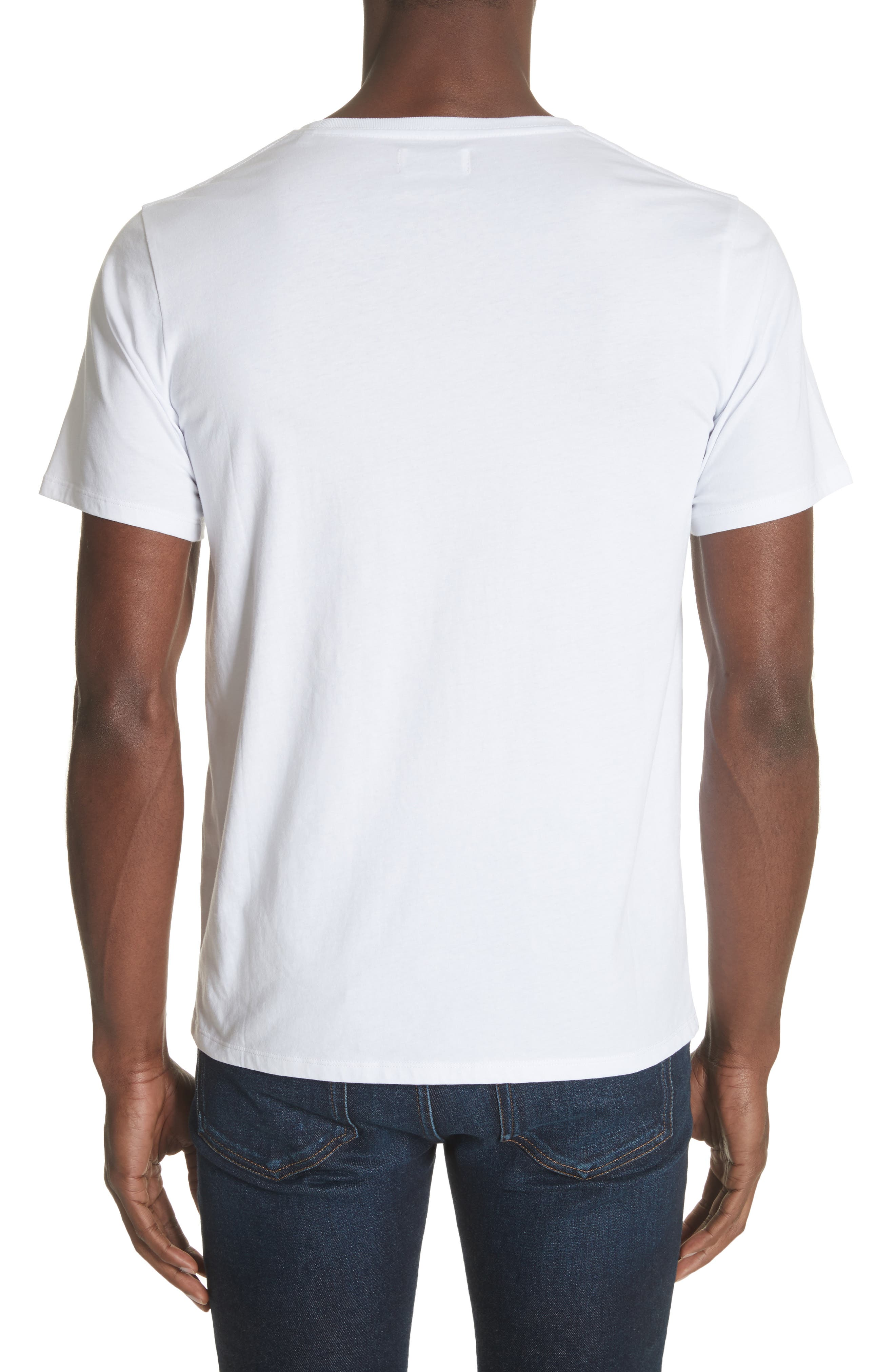 Water Stack Graphic T-Shirt,                             Alternate thumbnail 2, color,                             White