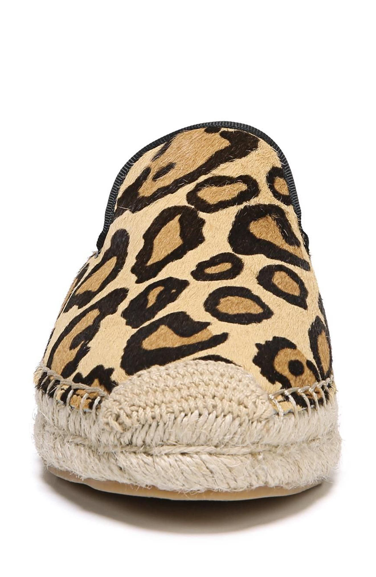 Kerry Genuine Calf Hair Espadrille Mule,                             Alternate thumbnail 4, color,                             New Nude Leopard Calf Hair