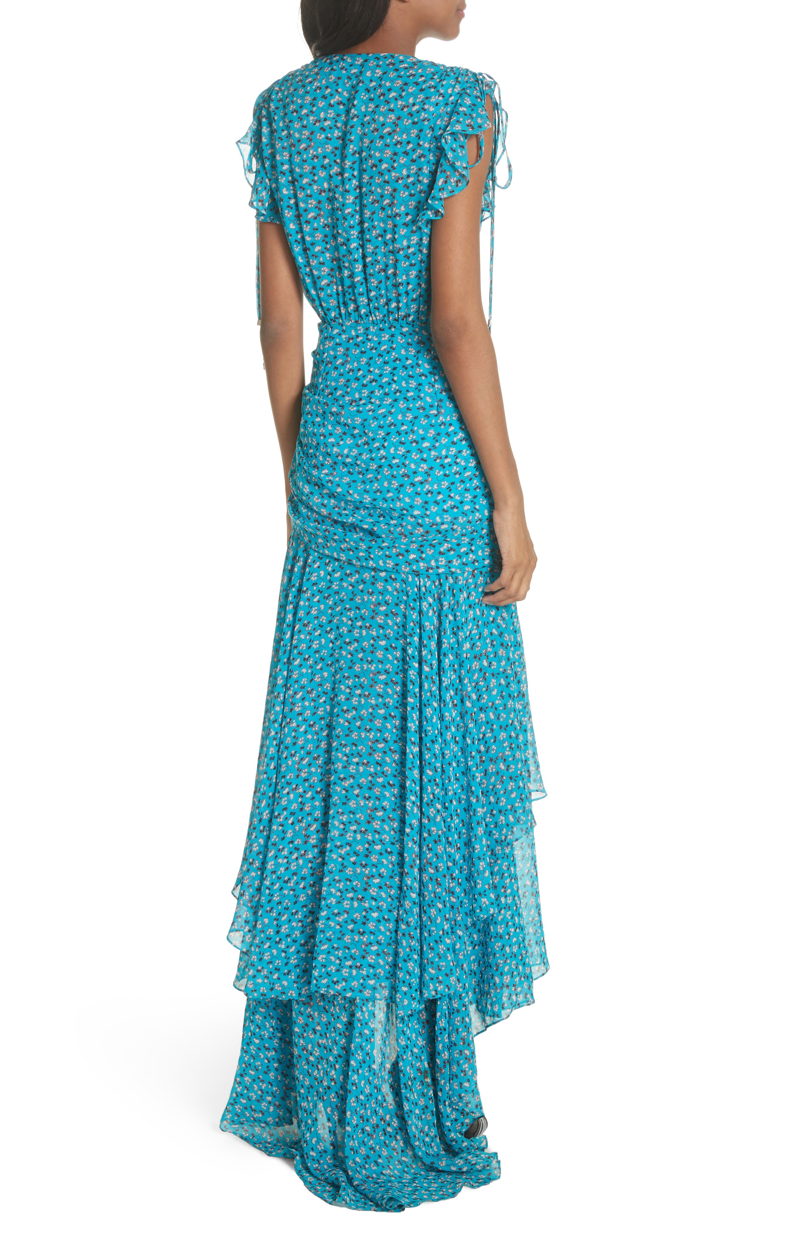 Samara Silk Dress,                             Alternate thumbnail 2, color,                             Blue