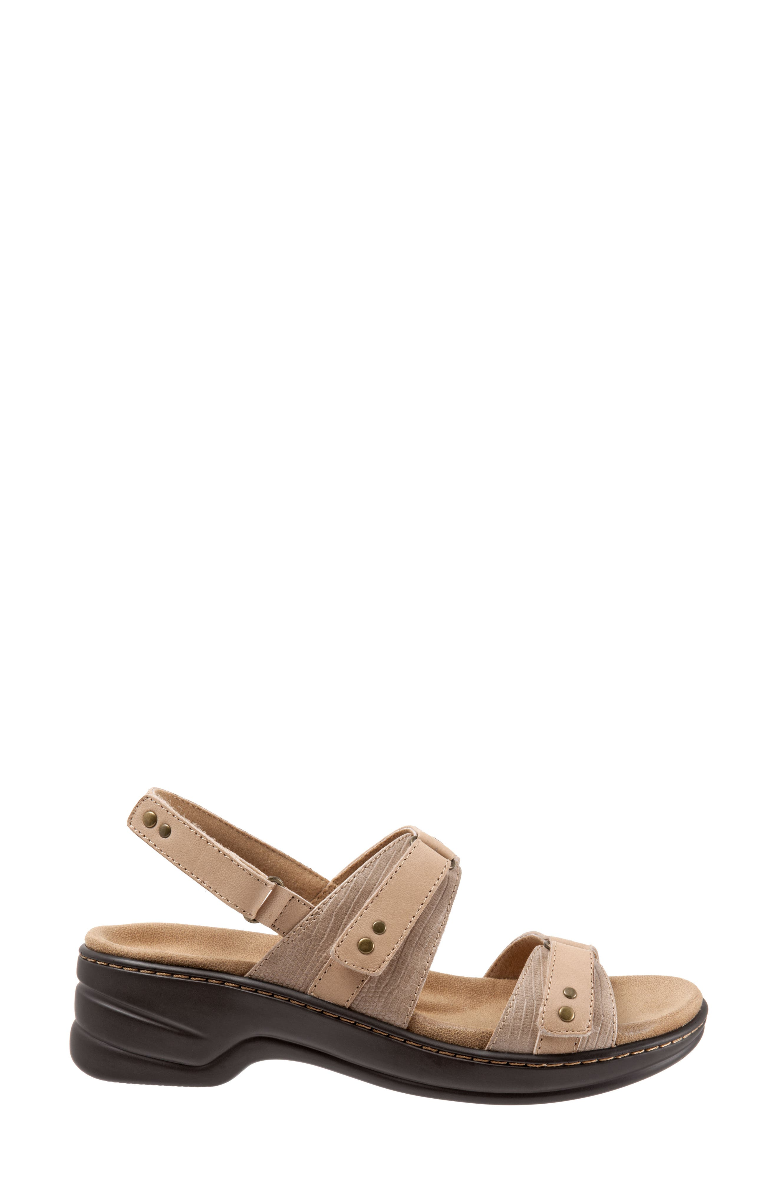 Newton Sandal,                             Alternate thumbnail 3, color,                             Beige/ Off White Leather