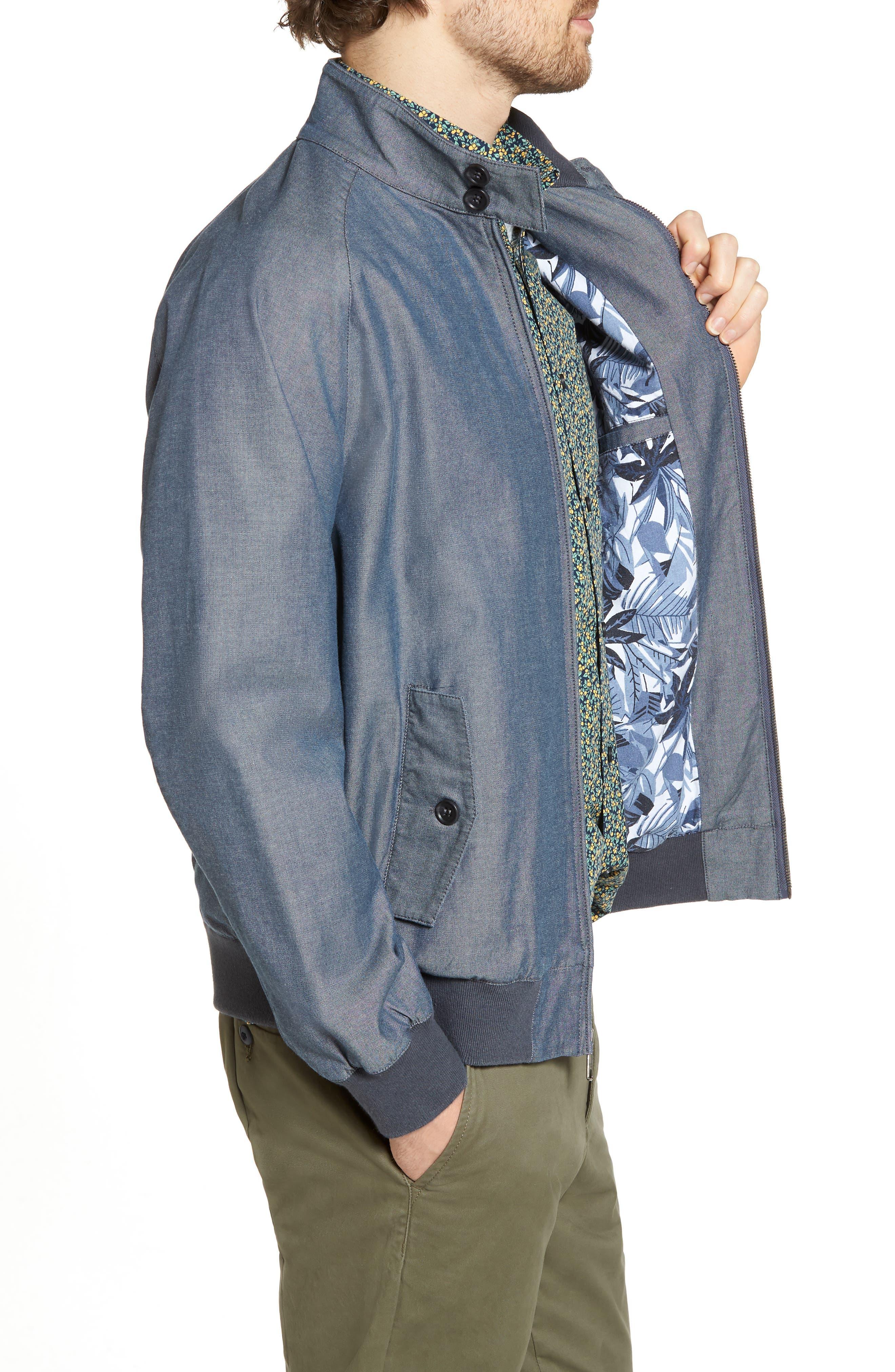 Harrington Jacket,                             Alternate thumbnail 3, color,                             Blue Vintage Chambray