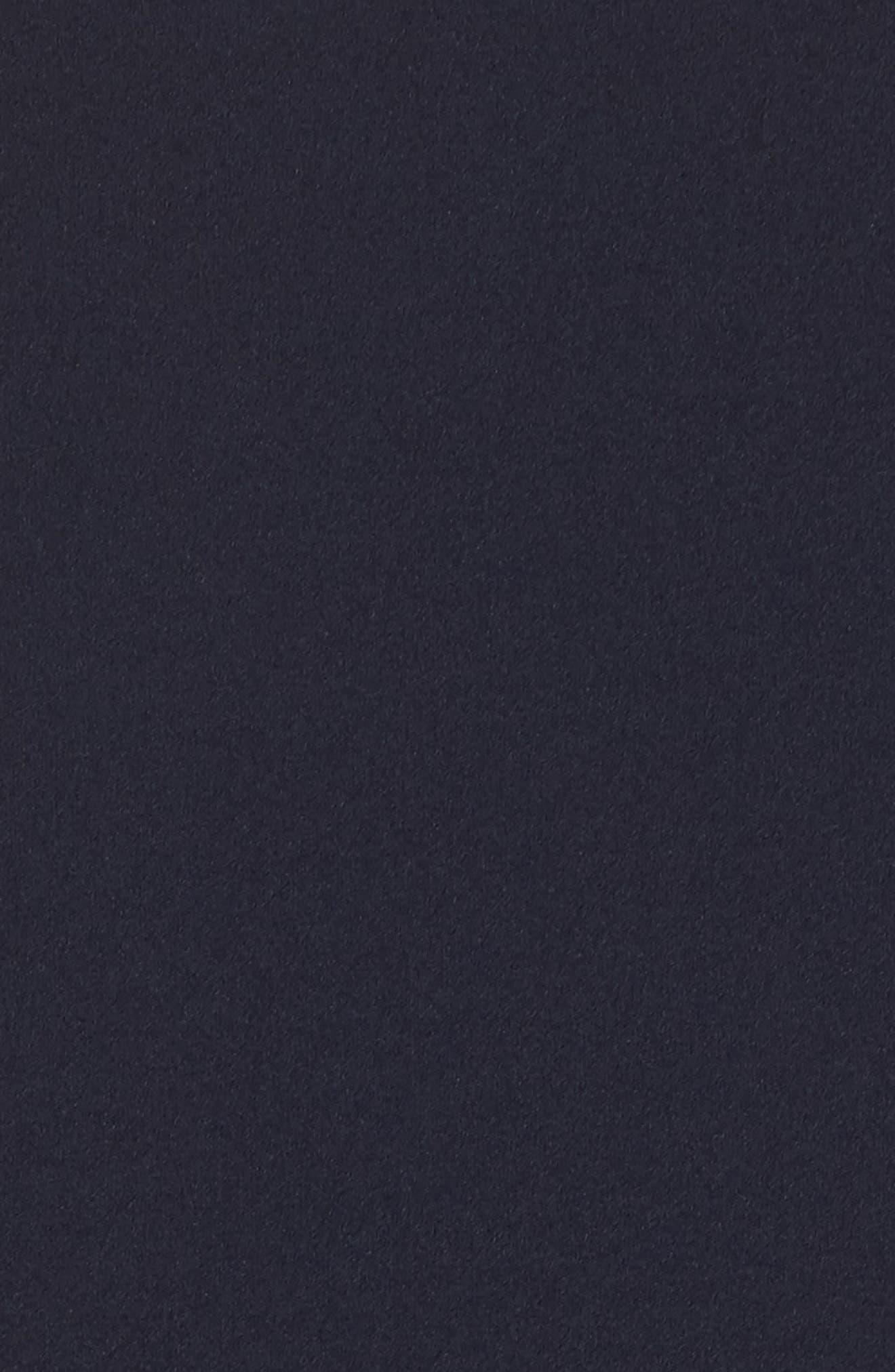 Sleeveless Scuba Crepe Gown,                             Alternate thumbnail 5, color,                             Navy