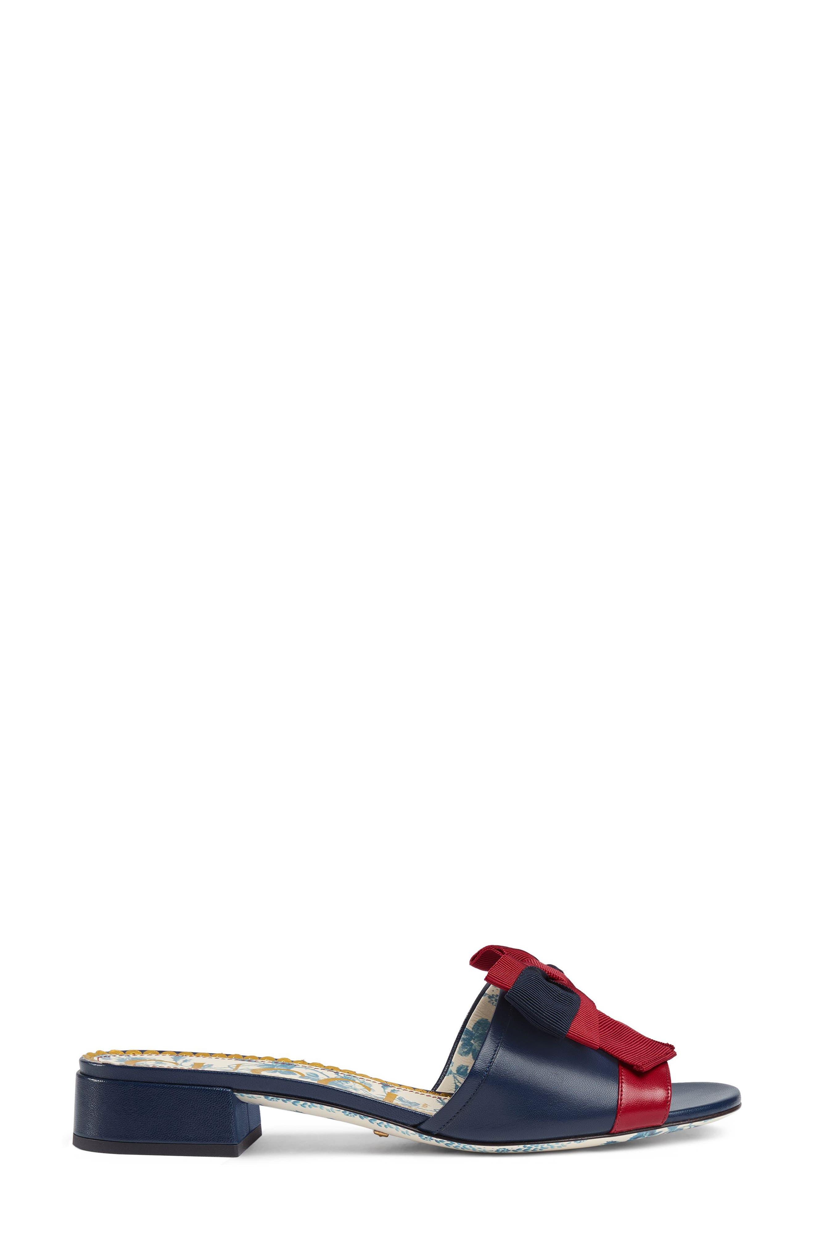Sackville Bow Sandal,                             Alternate thumbnail 2, color,                             Blue/ Red