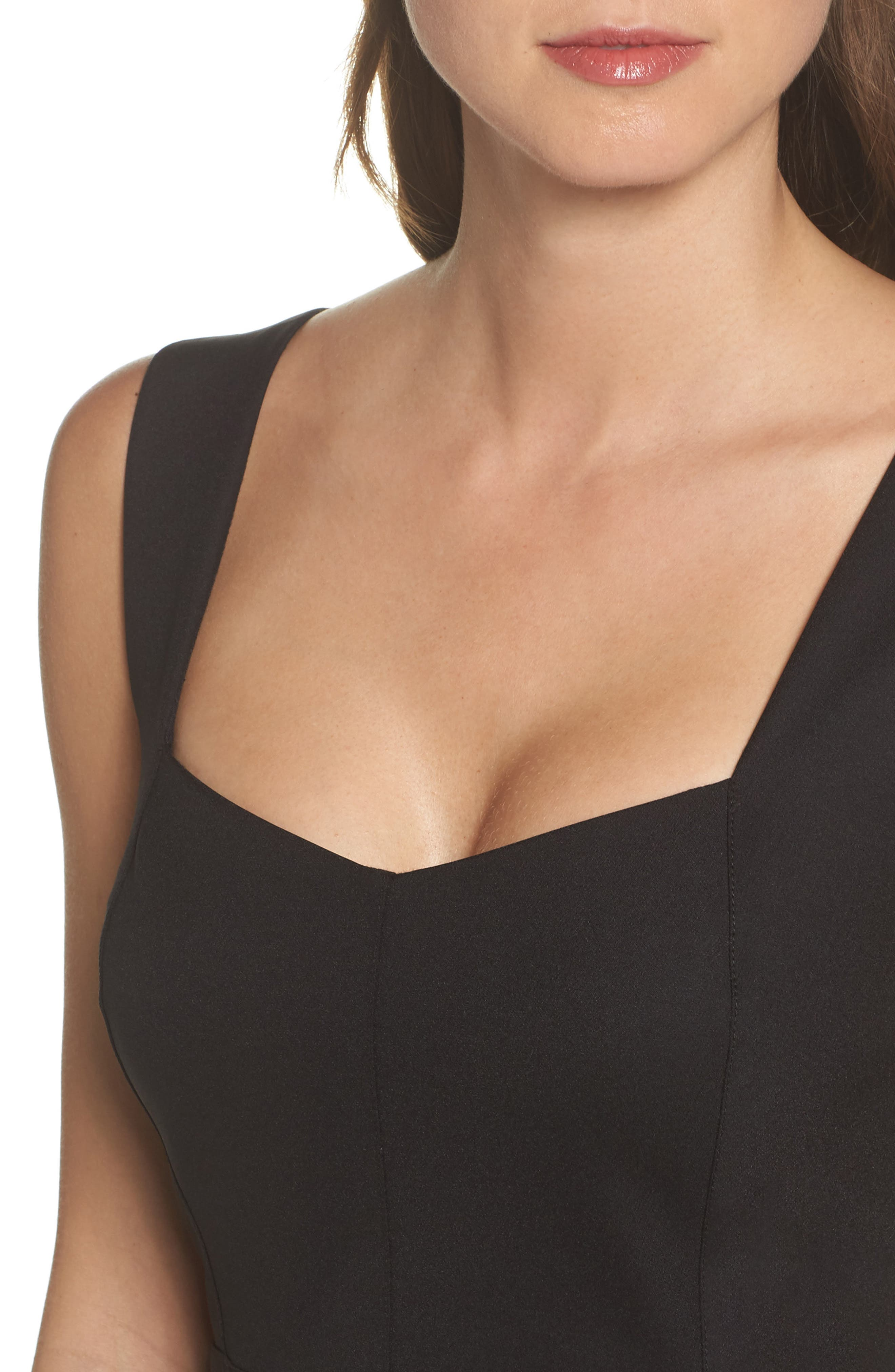 Mirren Midi Body-Con Dress,                             Alternate thumbnail 4, color,                             Black