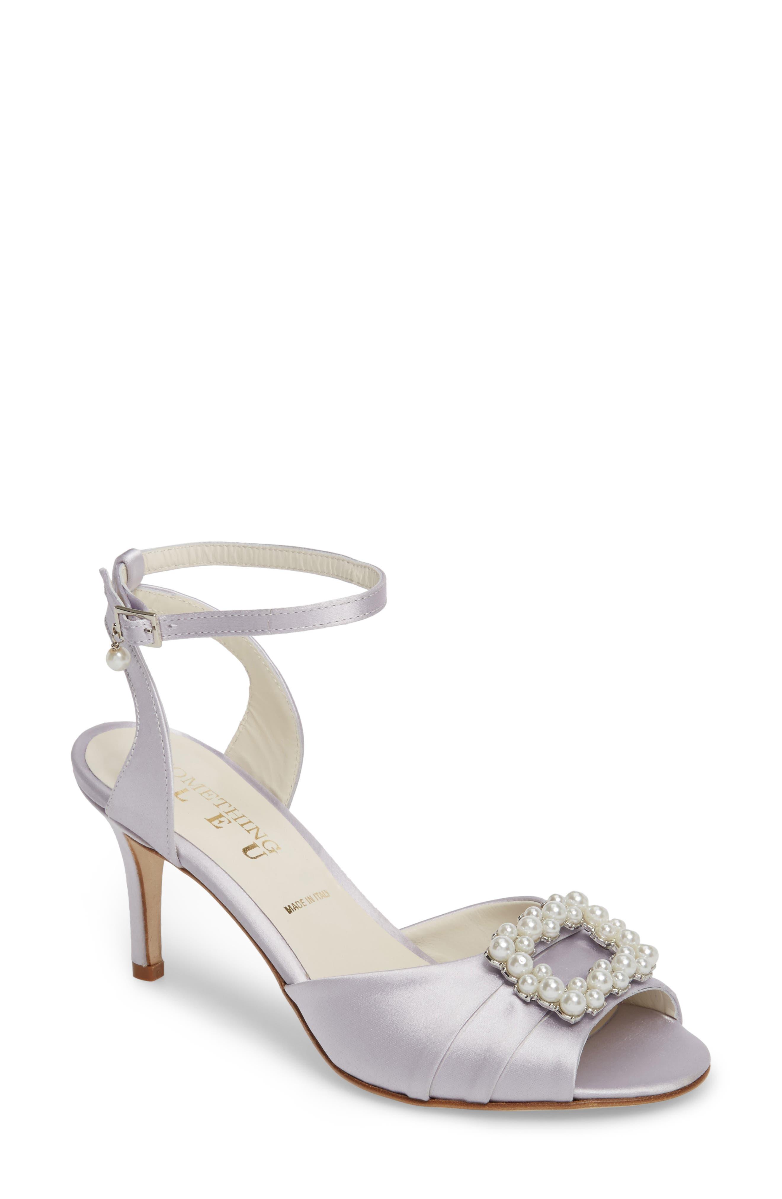 Something Bleu Godiva Imitation Pearl Buckle Sandal (Women)
