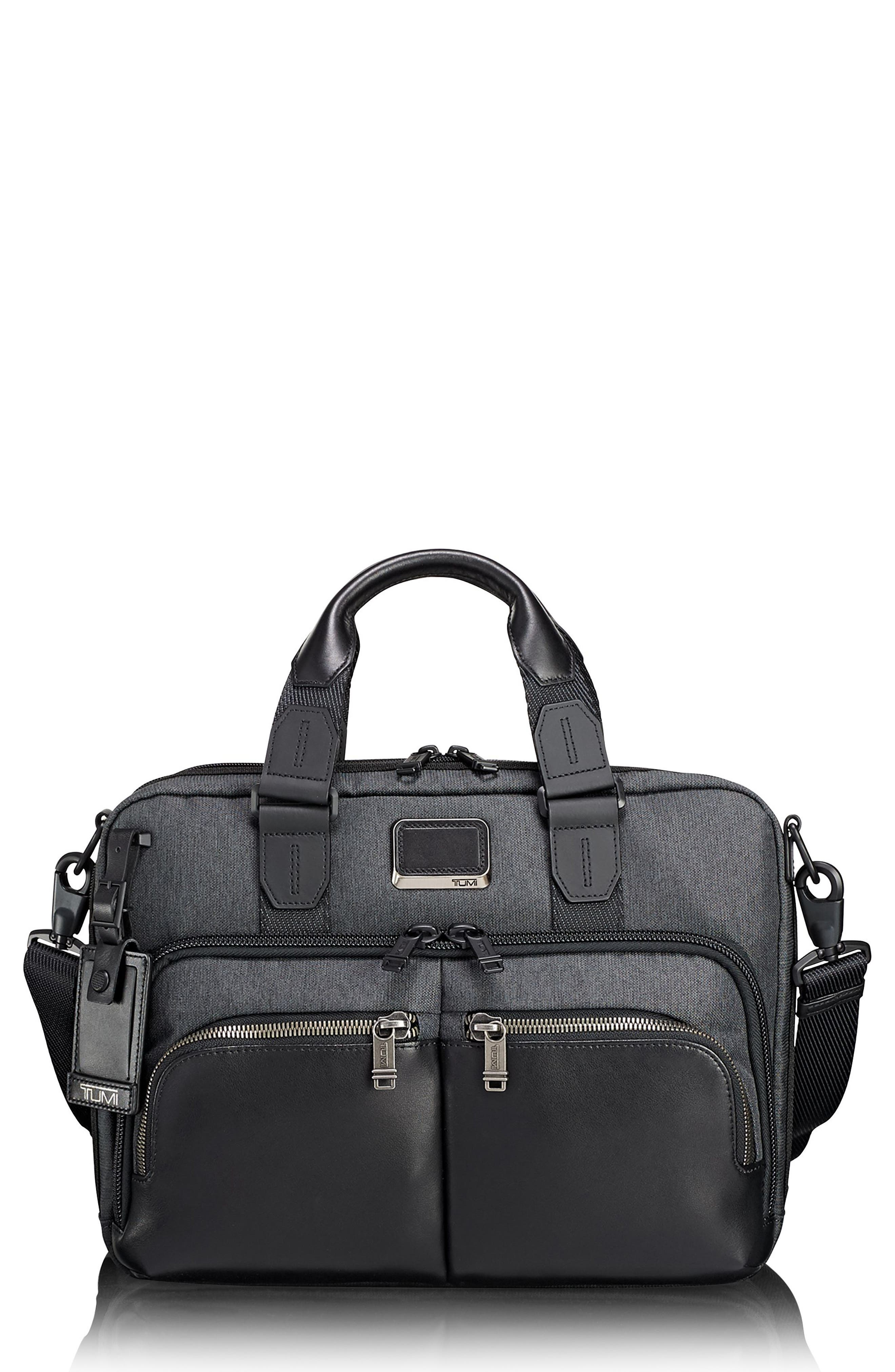 Alpha Bravo - Albany Slim Commuter Briefcase - Grey in Anthracite