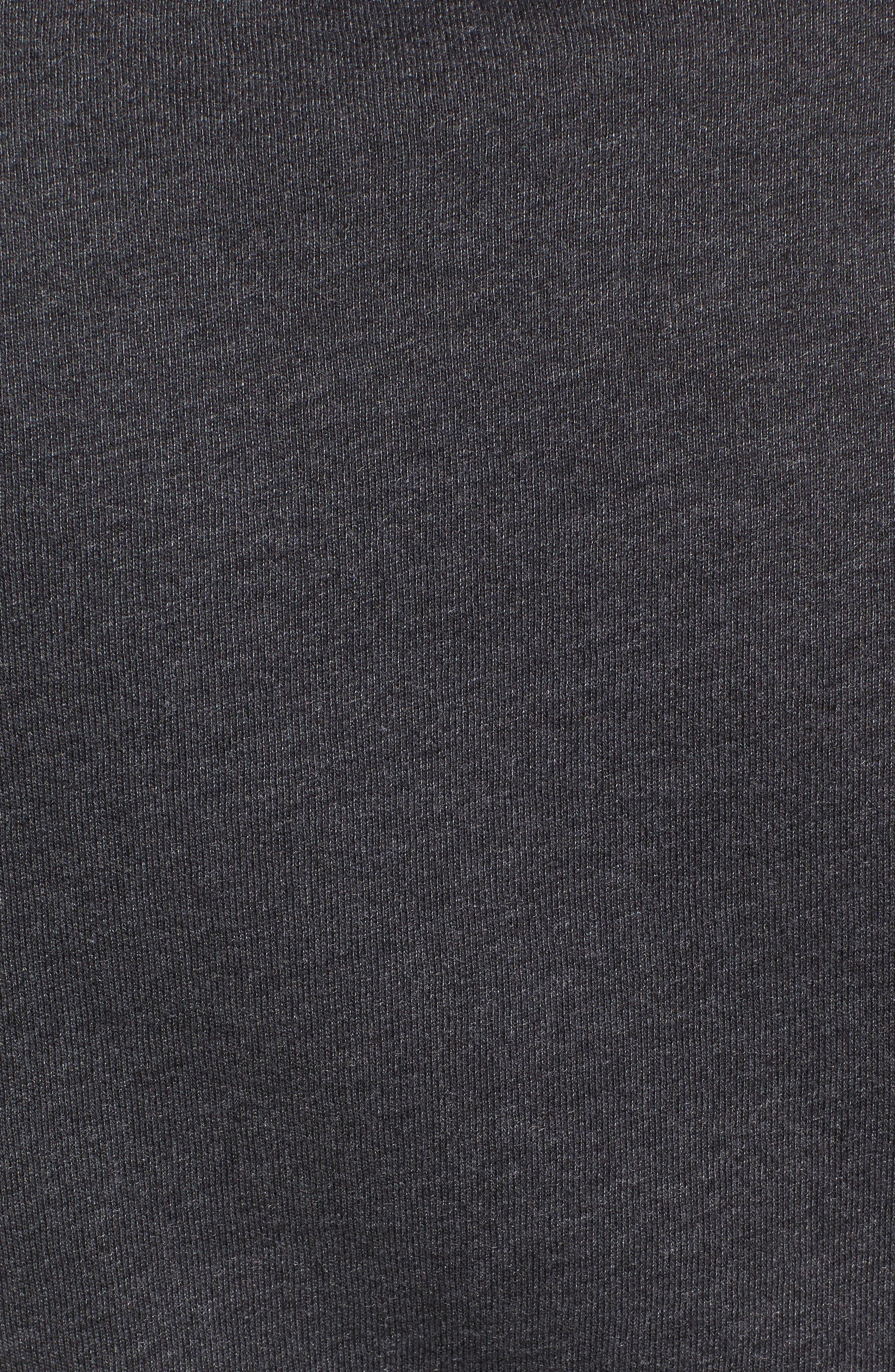 Bonjour Sweatshirt,                             Alternate thumbnail 5, color,                             Faded Black