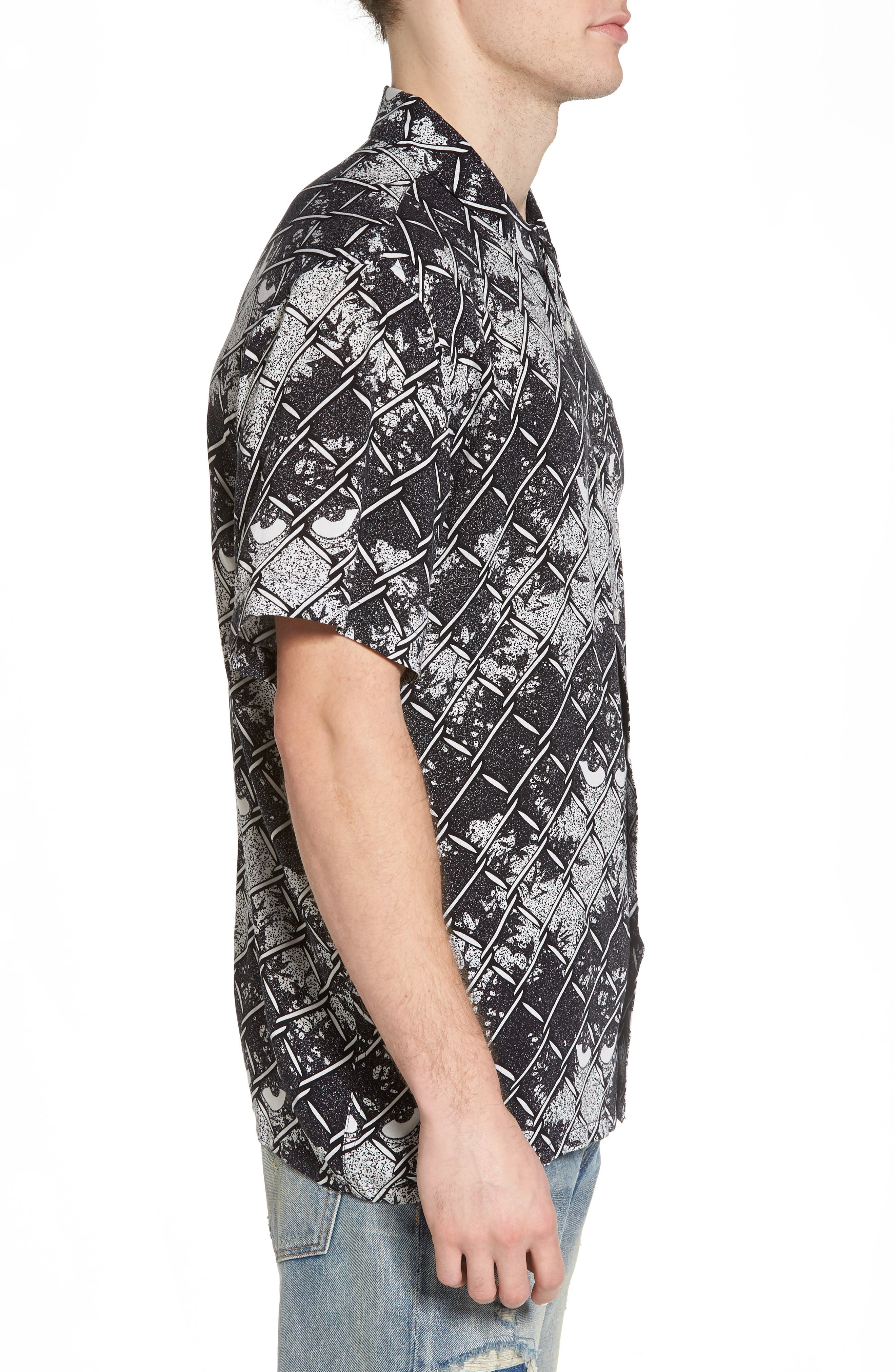 Gatekeeper Short Sleeve Shirt,                             Alternate thumbnail 3, color,                             Black Multi