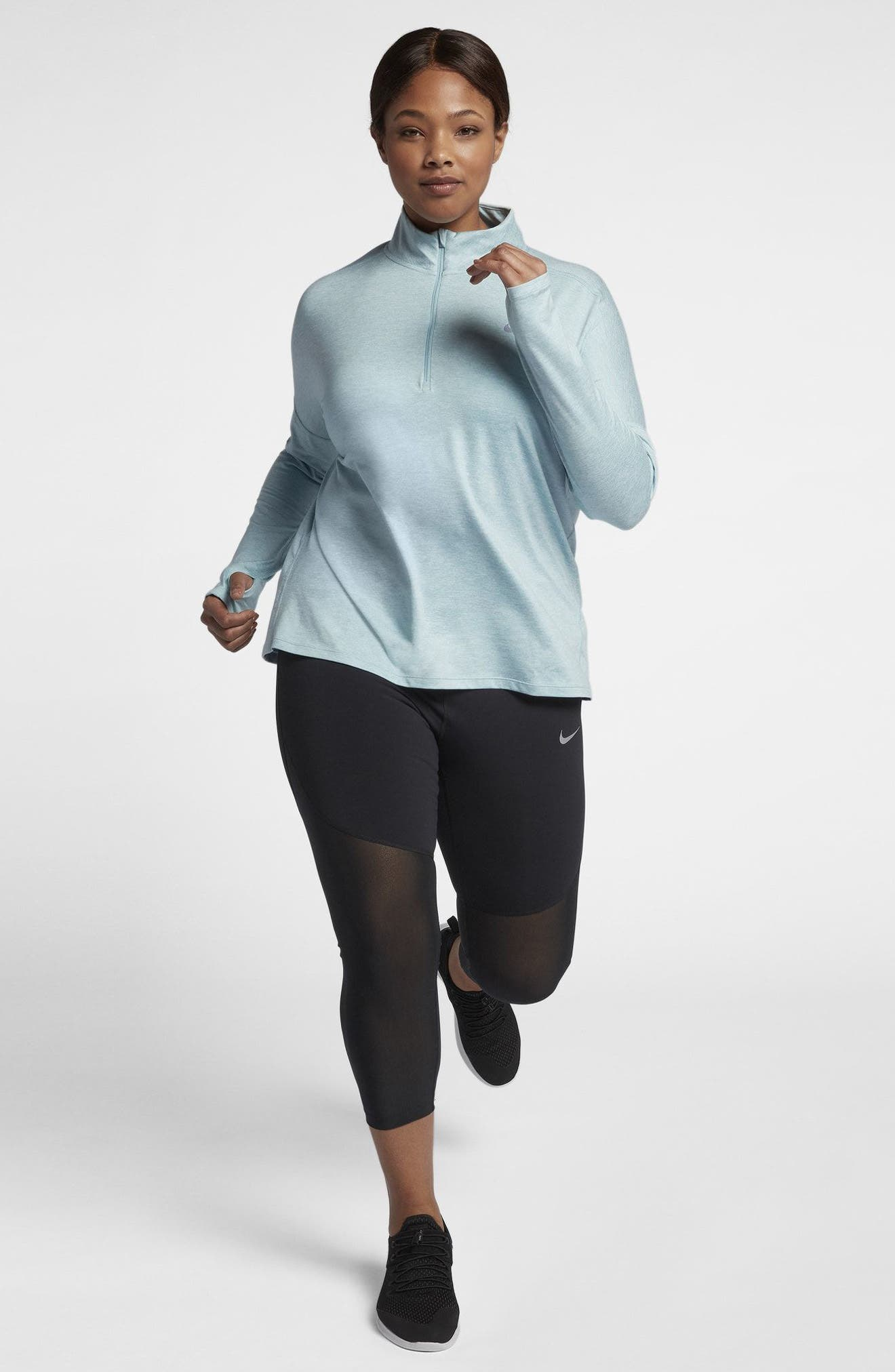 Dry Element Half Zip Top,                             Alternate thumbnail 6, color,                             Ocean Bliss/ Heather