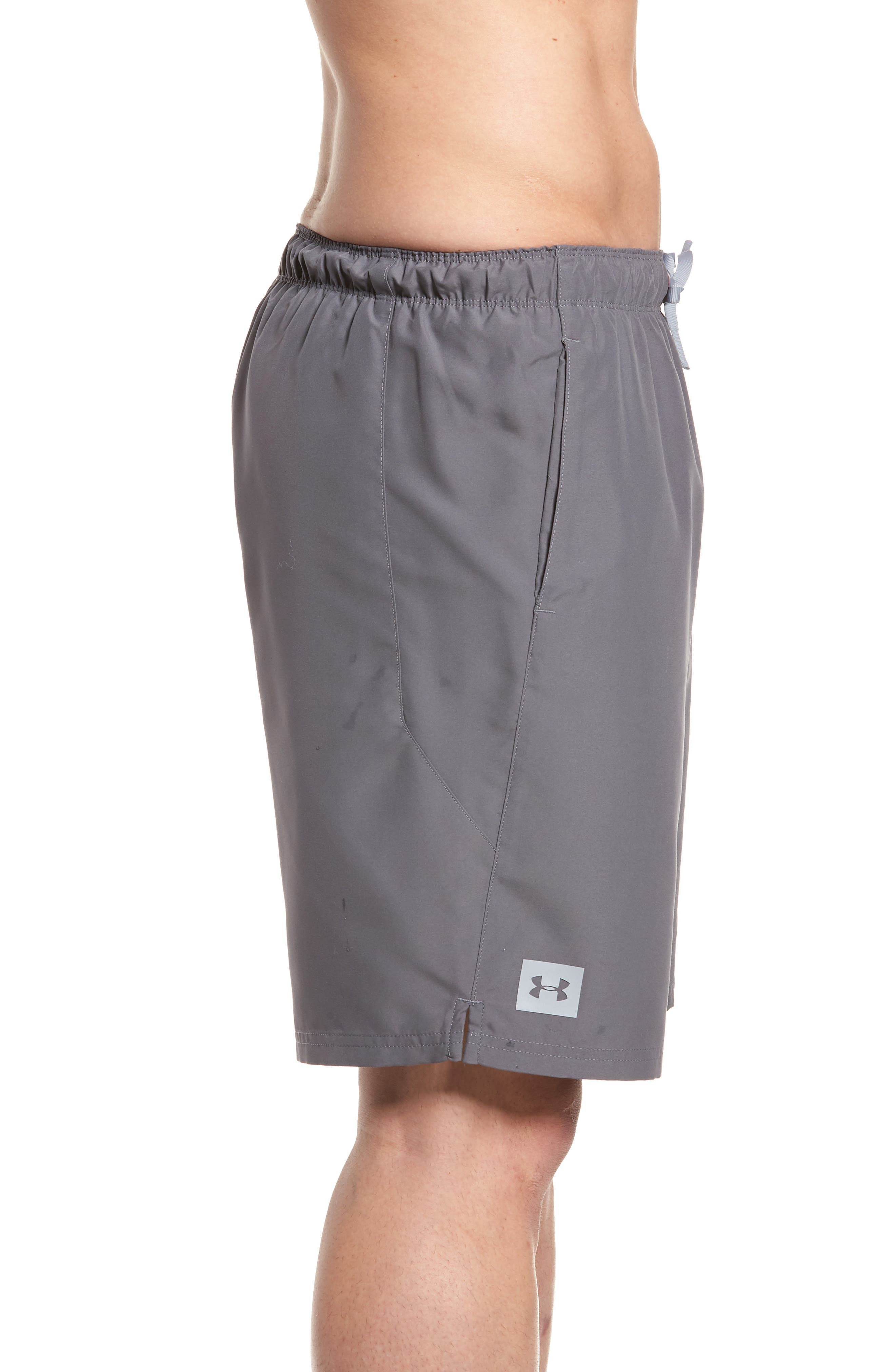 Mania Athletic Shorts,                             Alternate thumbnail 3, color,                             Graphite / Pierce / Grey