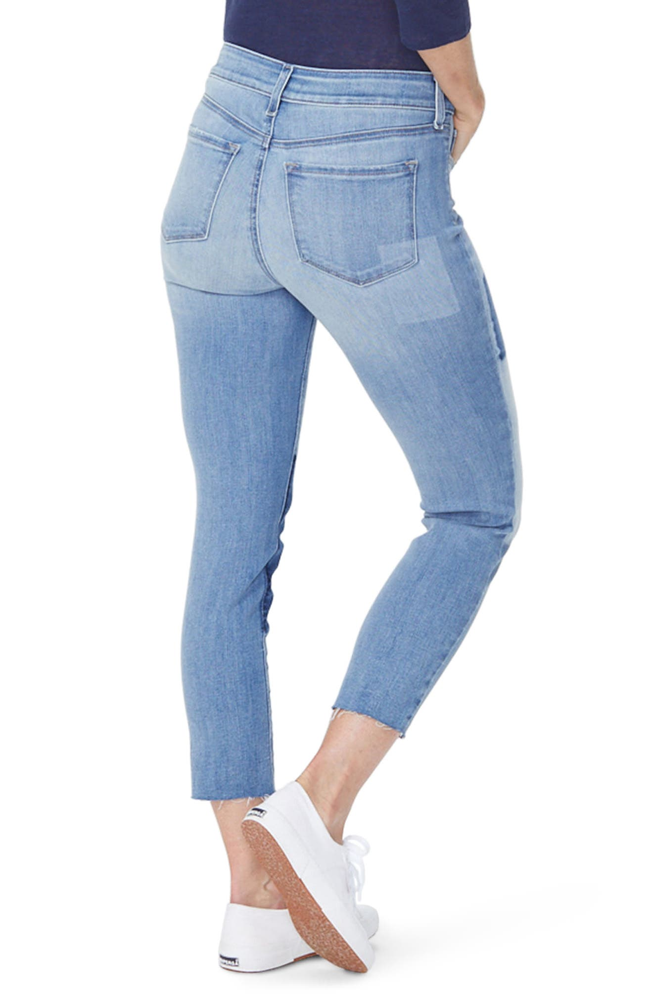 Alternate Image 2  - NYDJ Alina Shadow Detail Ankle Jeans (Dream State)
