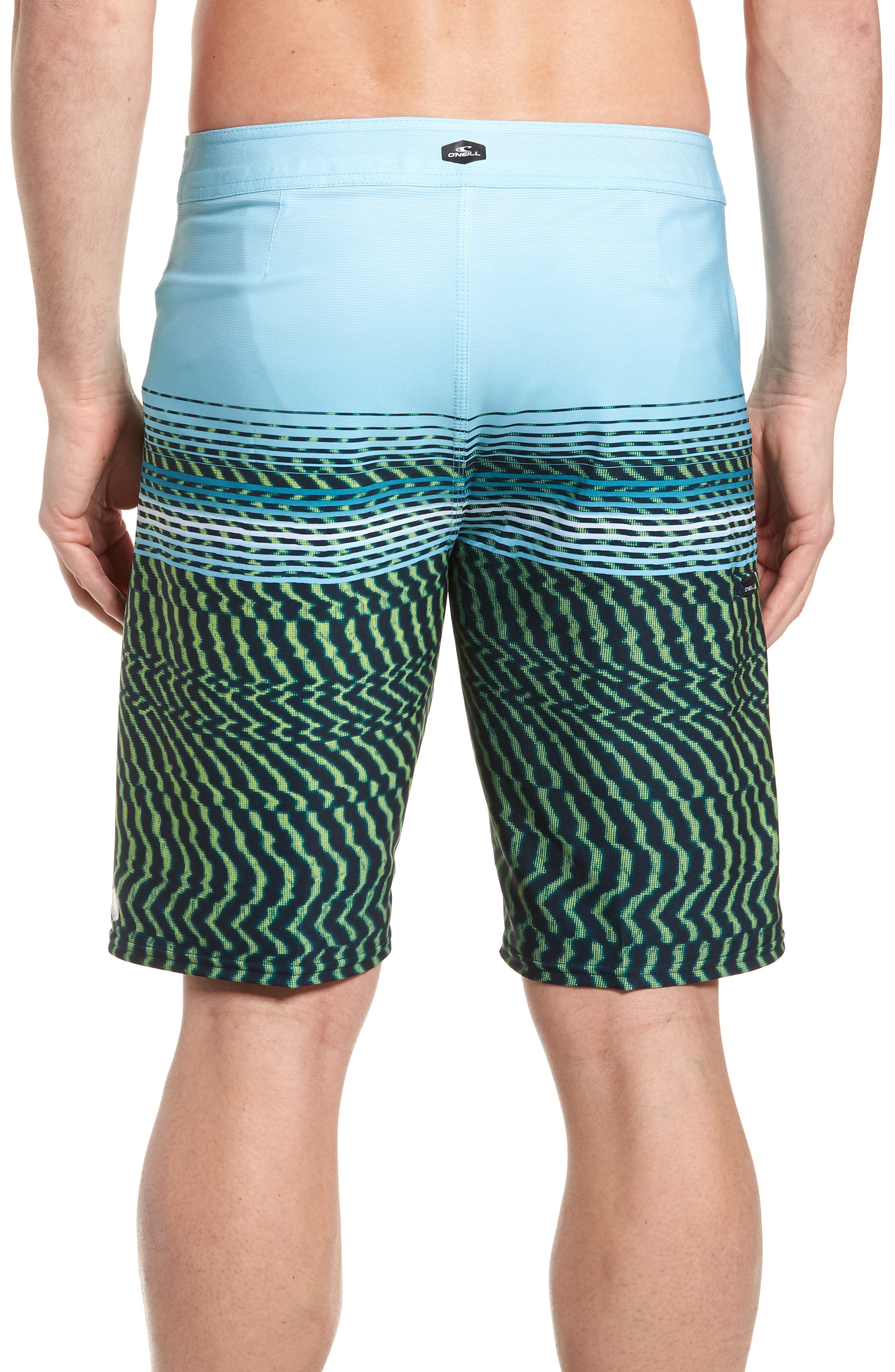 Hyperfreak Wavelength Board Shorts,                             Alternate thumbnail 2, color,                             Lime