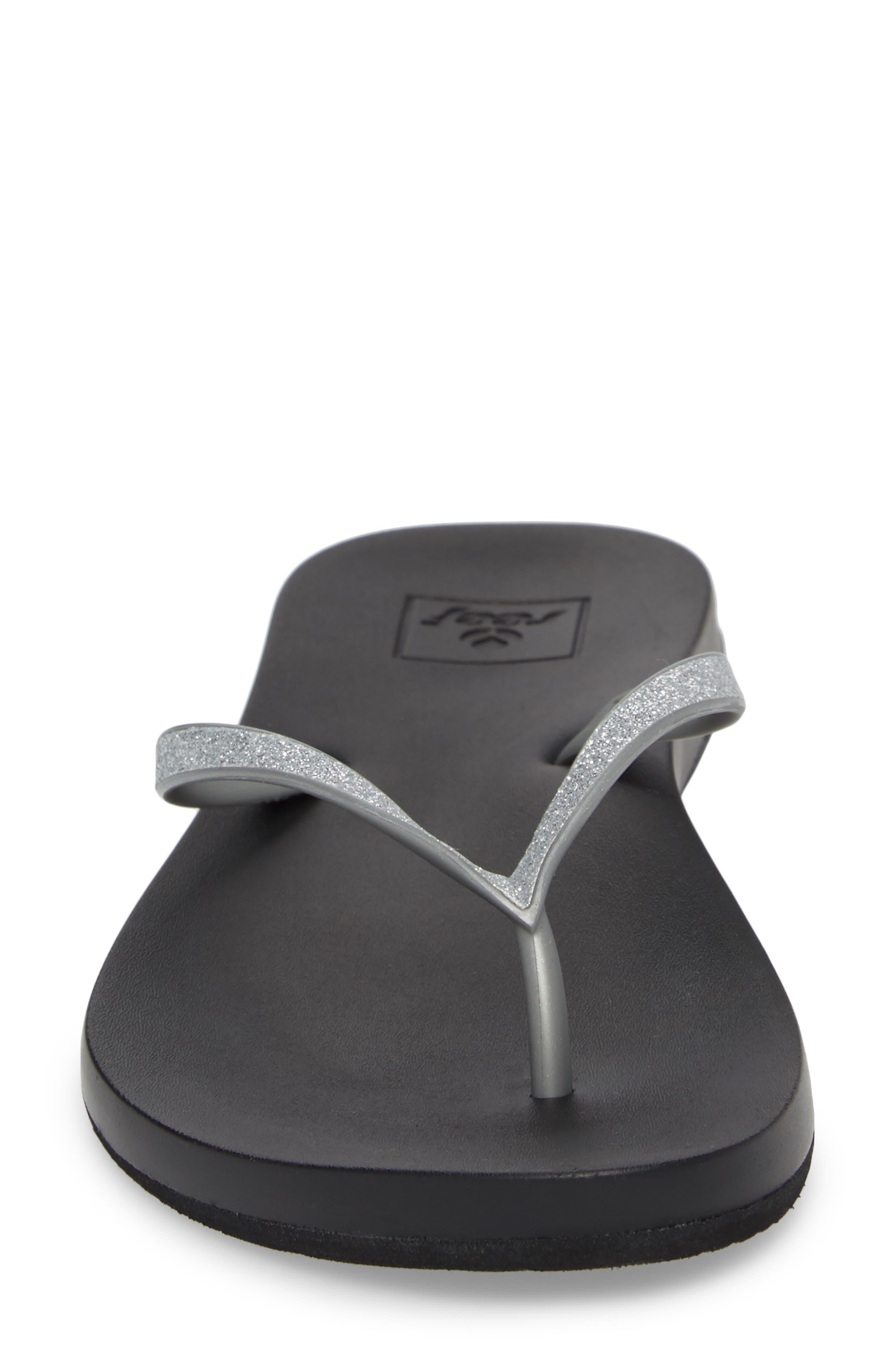 Cushion Bounce Stargazer Flip Flop,                             Alternate thumbnail 4, color,                             Silver