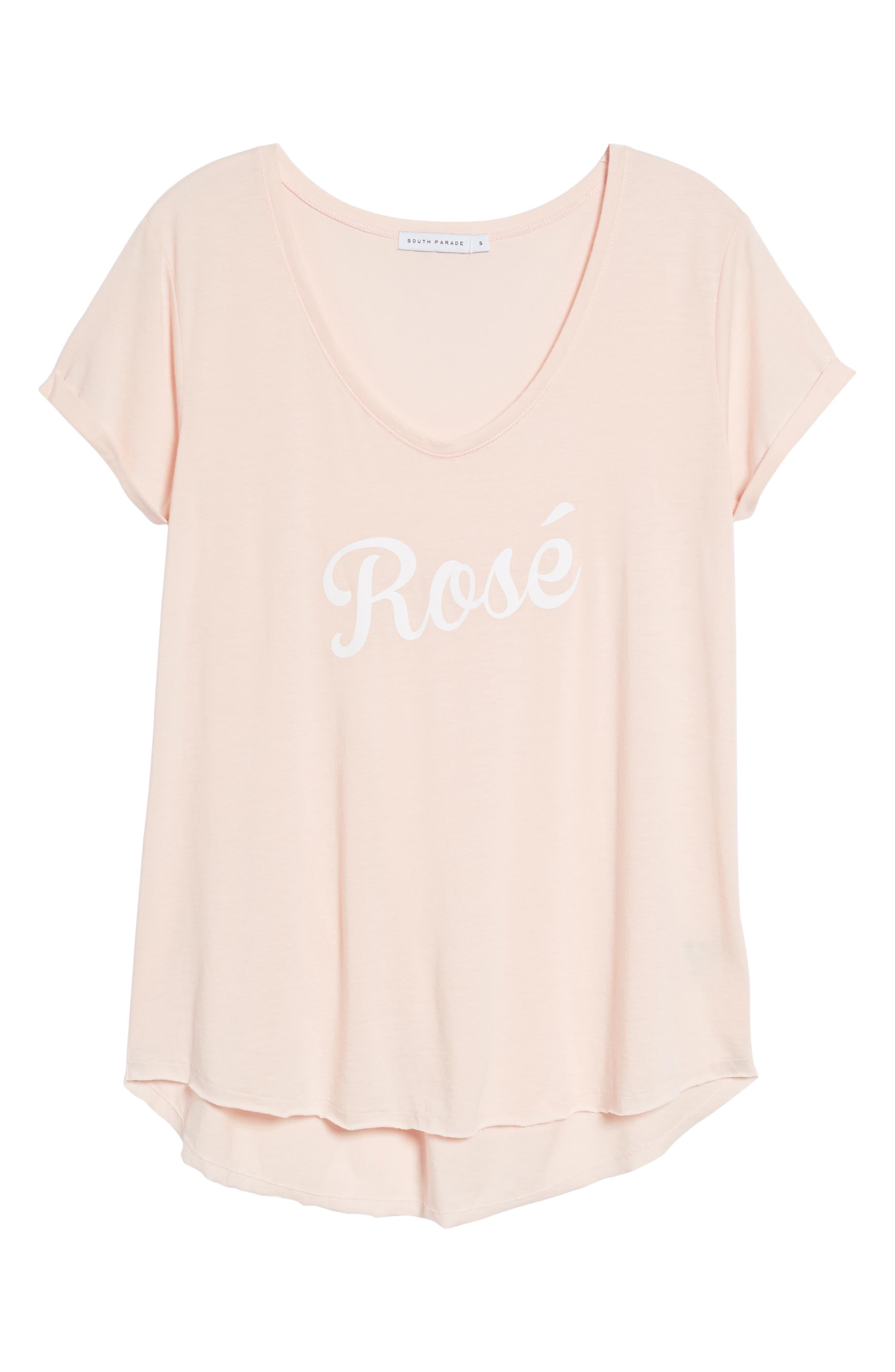 Valerie - Rosé Tee,                             Alternate thumbnail 6, color,                             Pink
