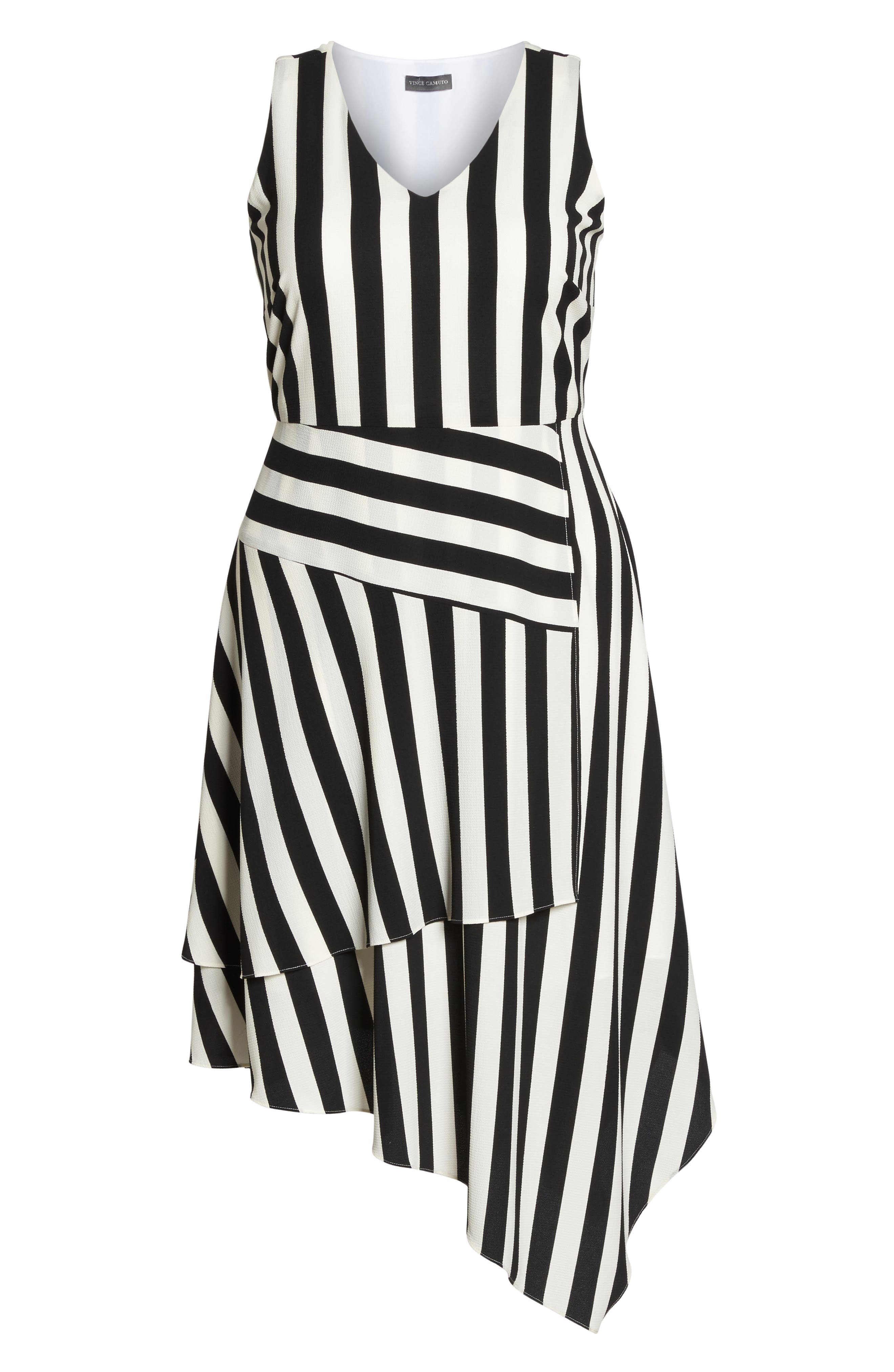 Spectator Asymmetrical Hem Dress,                             Alternate thumbnail 6, color,                             Rich Black