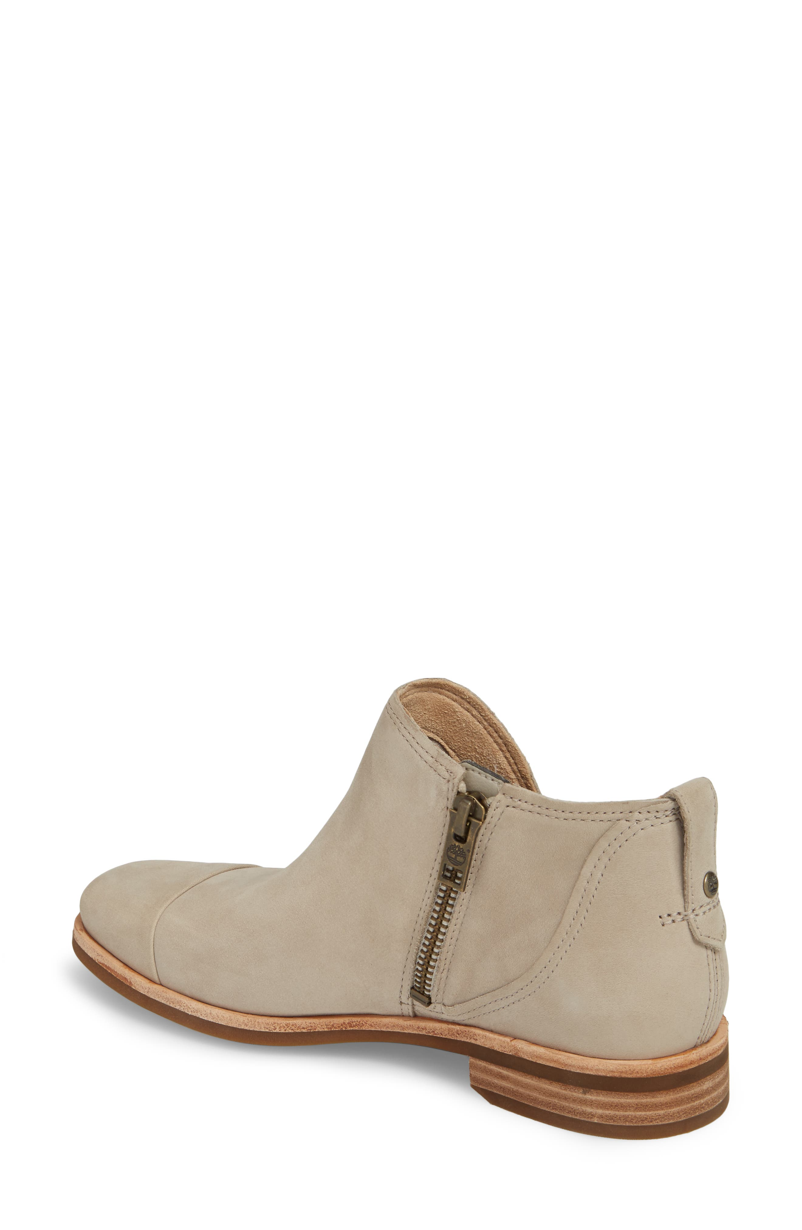 Somers Falls Short Ankle Bootie,                             Alternate thumbnail 2, color,                             Light Taupe Nubuck Leather